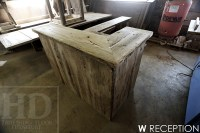 Reclaimed Wood Reception Desk | Blog