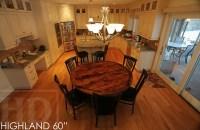Reclaimed Wood Table Epoxy Polyurethane Finish Highland ...