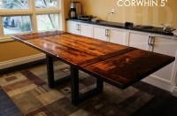 Reclaimed Wood Metal Steel Table Burlington Ontario Gerald ...