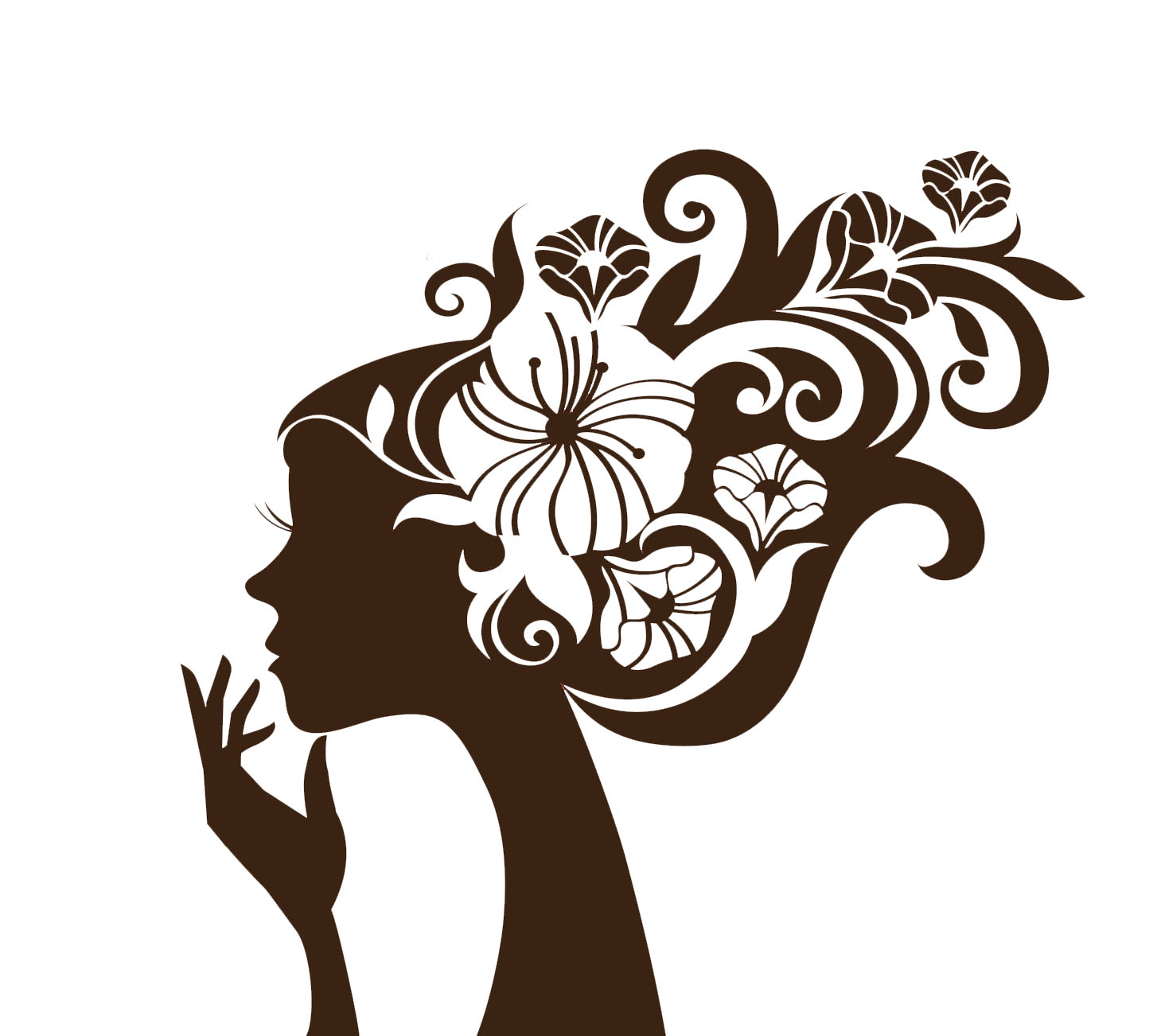 Butterfly Girl Hd Wallpaper Beautiful Woman Silhouette With A Flowers Hd Wallpapers