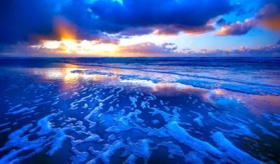 Tide Sunset Waves Wallpaper 374 1024x600 - Wallpaper - HD Wallpaper