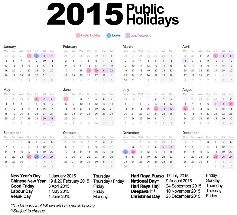 Calendar Holiday Singapore 2014 2014 Calendar Online Printable 2014 Holiday Calendar Calendar With Holidays 2015 Pictures Images