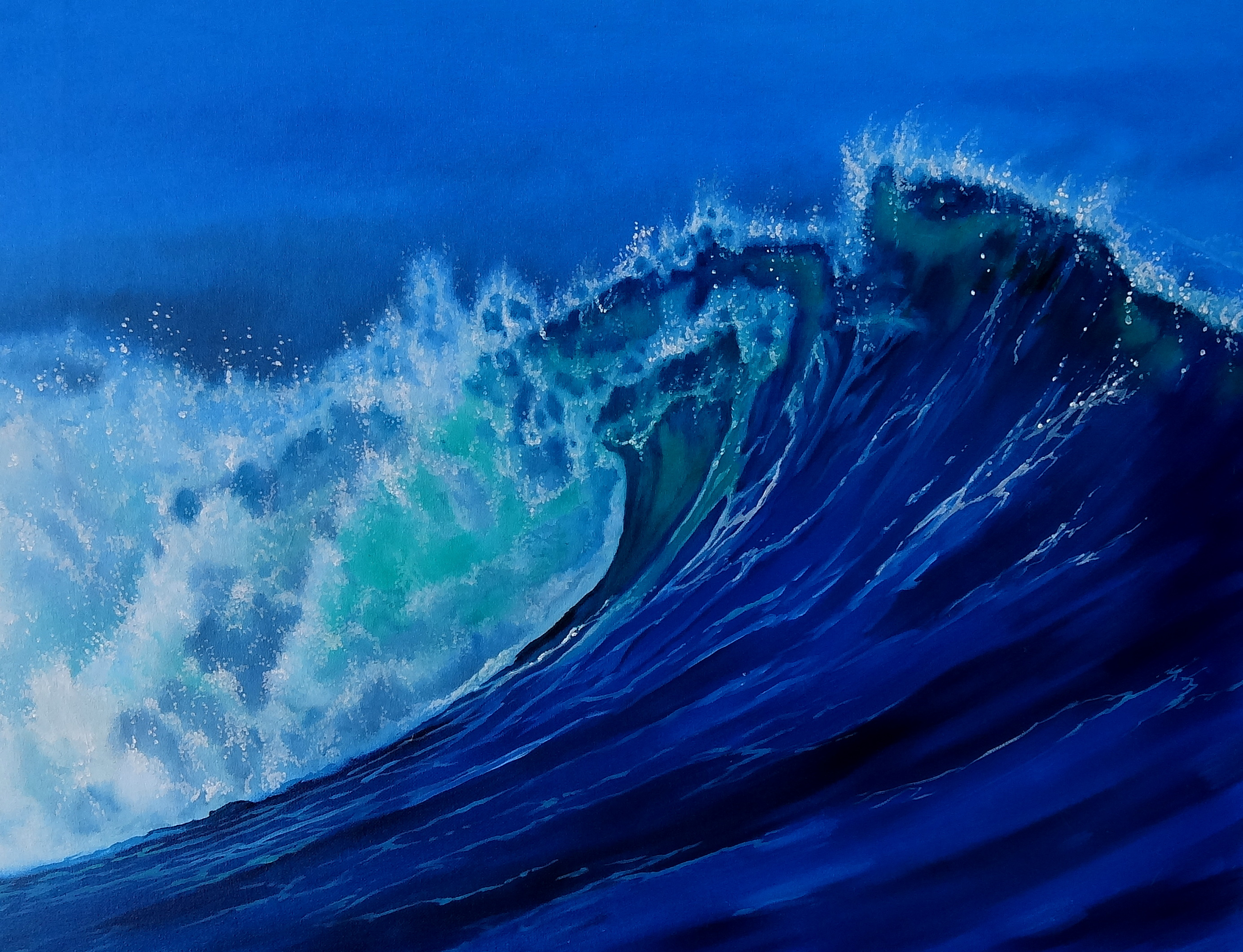 Wallpaper 3d Funny Blue Wave Wallpapers Pictures Images