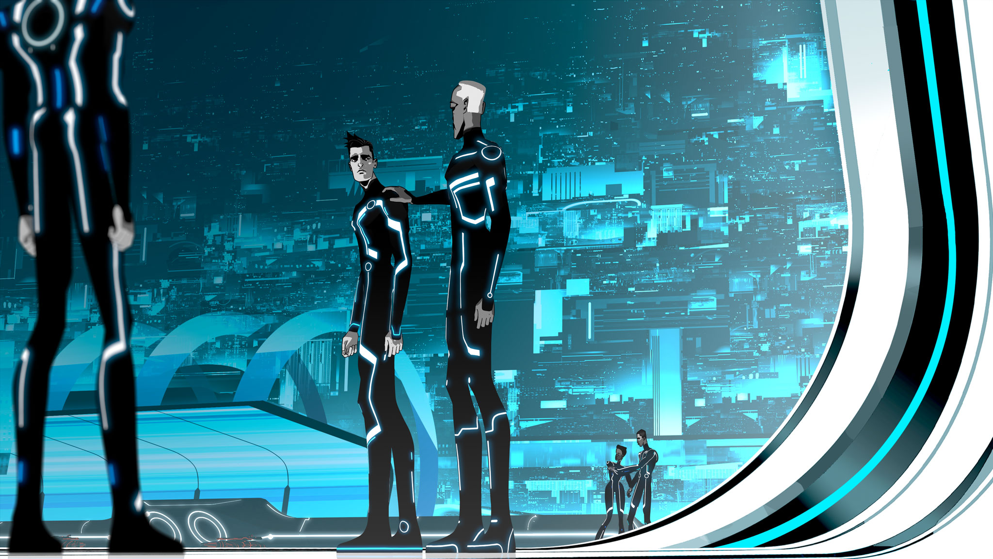 Dual Monitor Animated Wallpaper Tron Uprising Backgrounds Pictures Images
