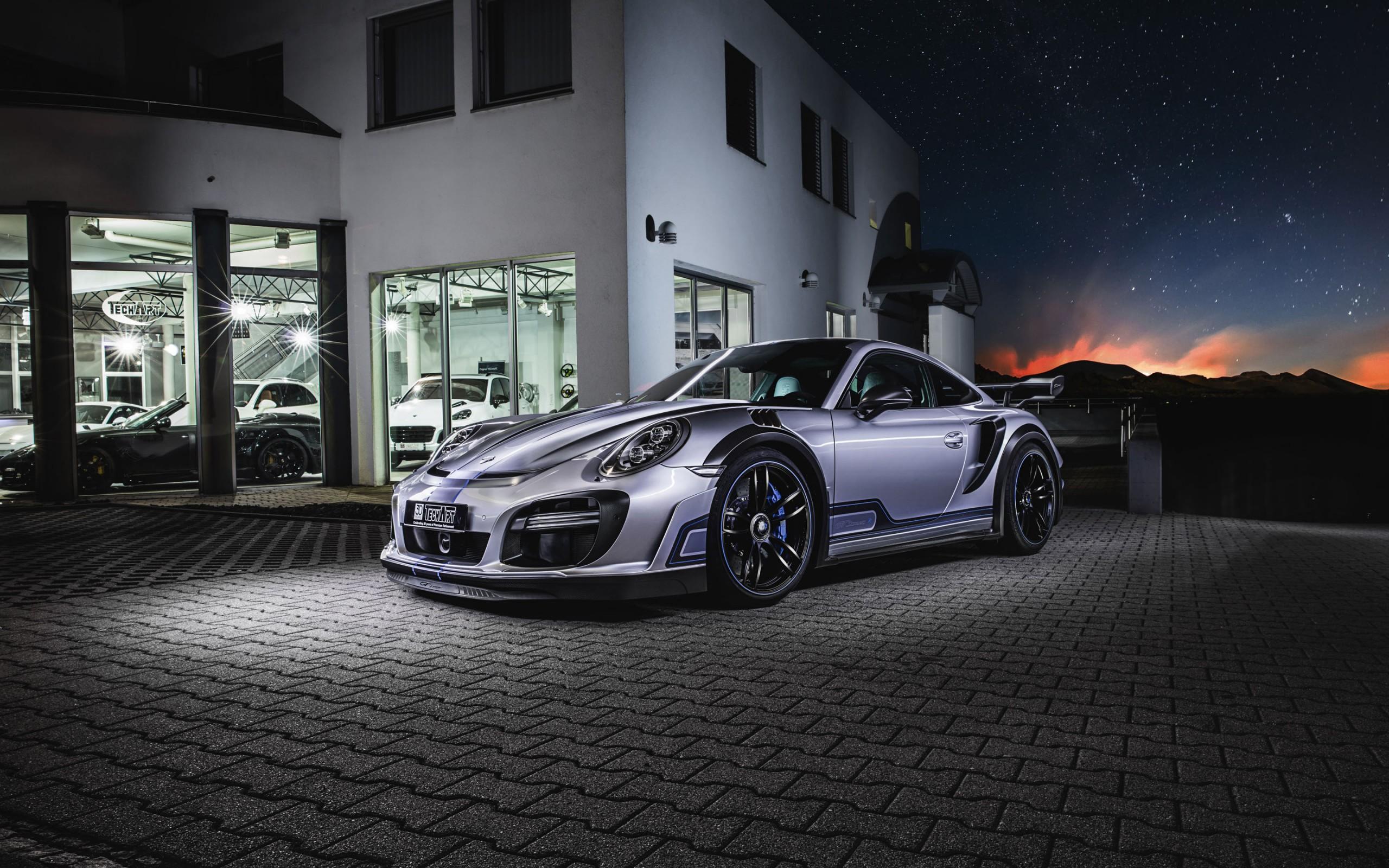Latest 3d Hd Wallpapers For Pc 2017 Techart Porsche 911 Turbo Gt Street R Hd Wallpapers