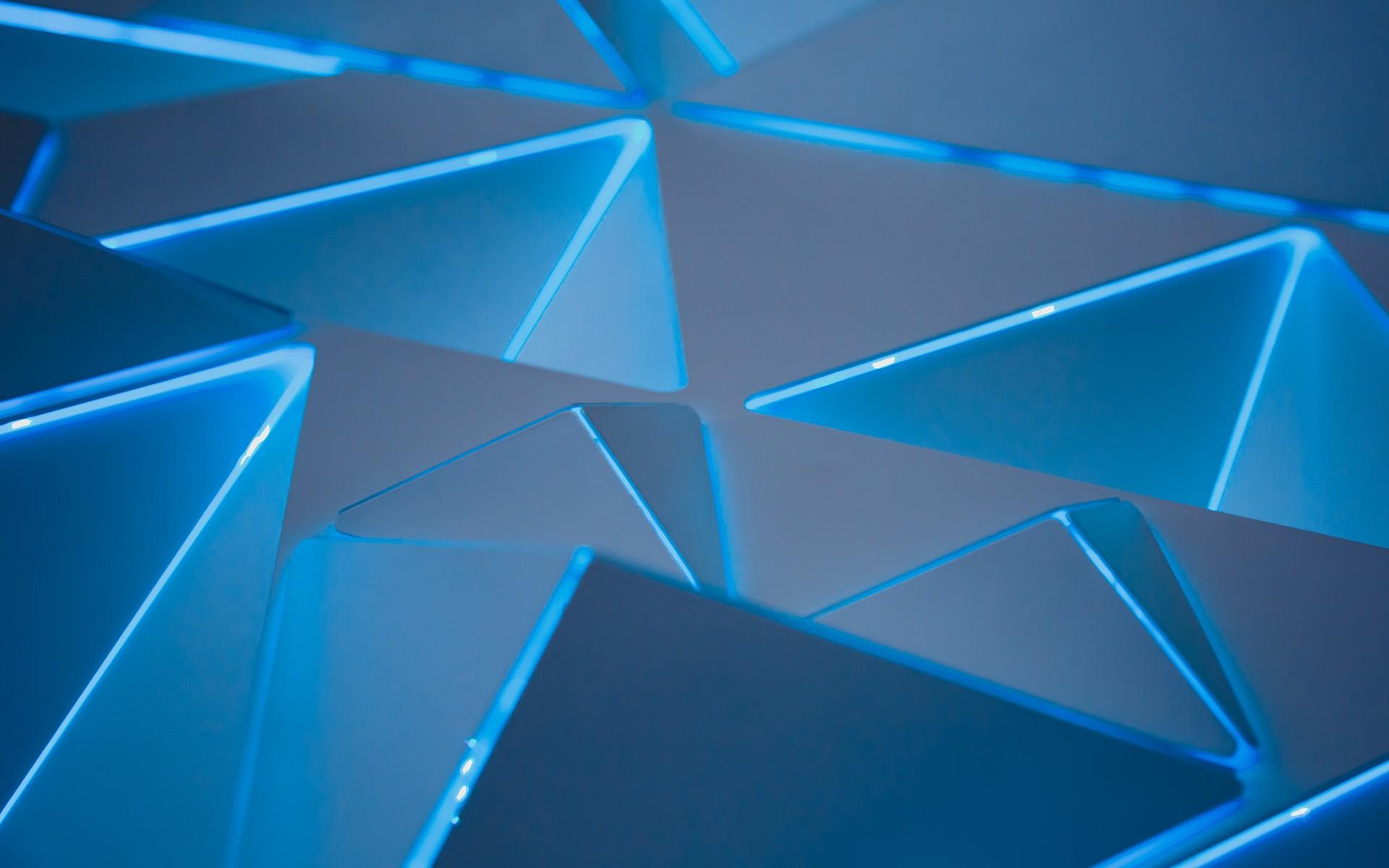 Pc Wallpaper Full Hd 3d 3d Blue Triangles Wallpapers Hd Wallpapers Id 24665