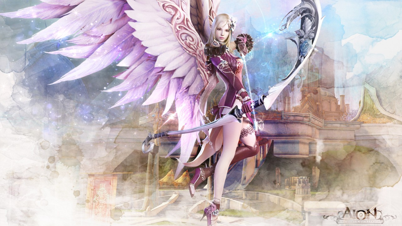 Cute Wallpapers For Iphone 4 Aion Fantasy Cg Archer Girl Wallpapers Hd Wallpapers