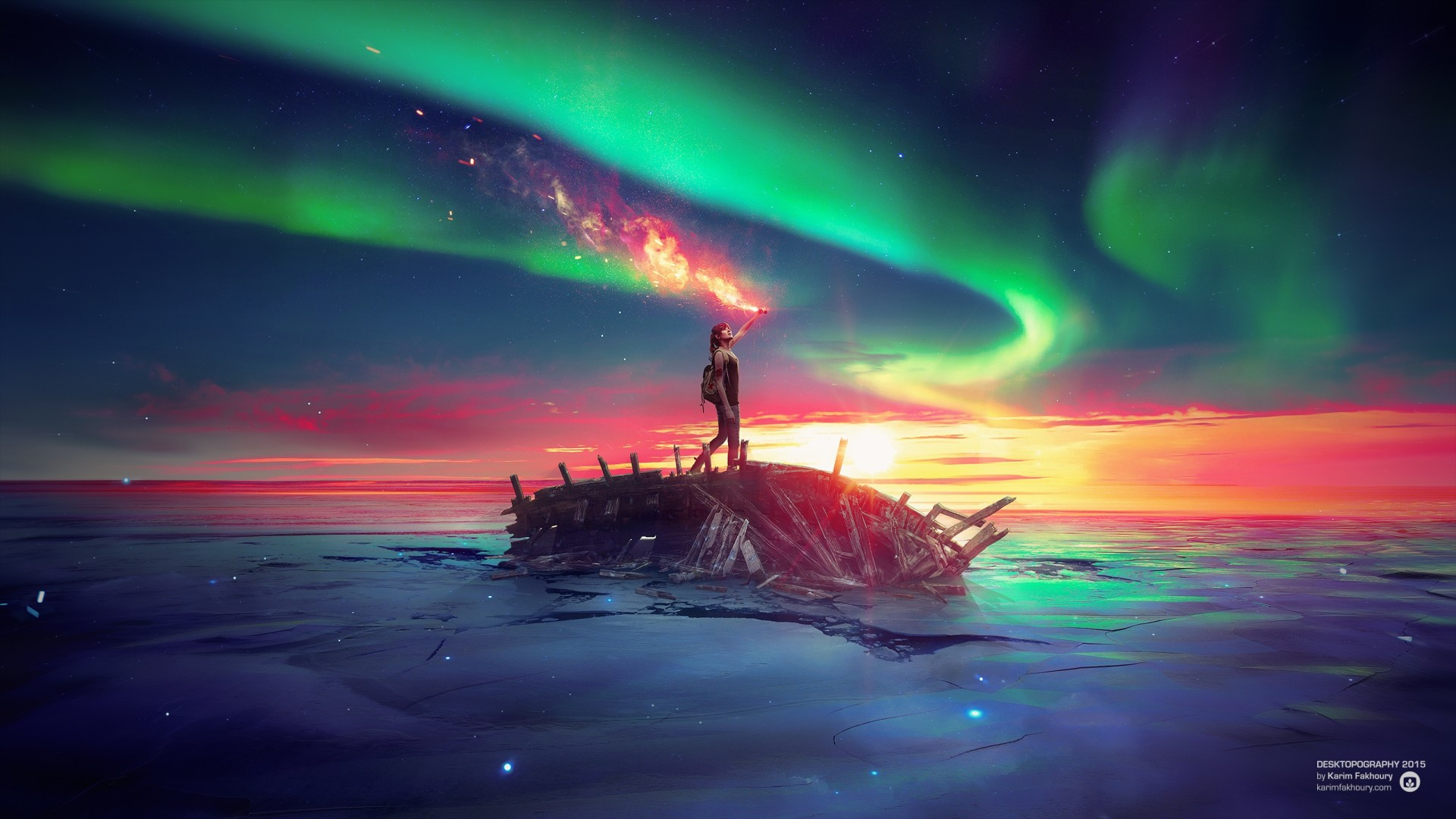 Creative Wallpapers For Iphone X Ancient Future Sky Sea Wallpapers Hd Wallpapers Id 16100