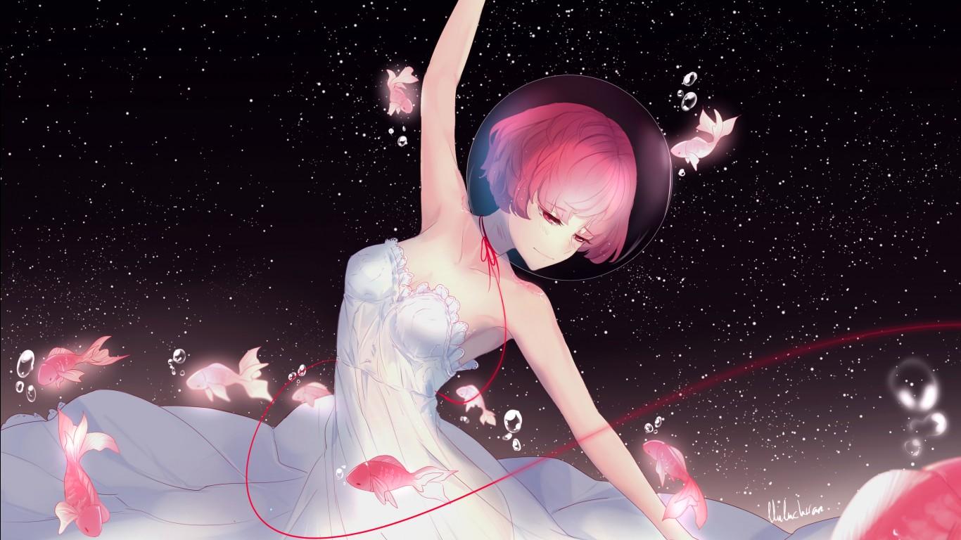 Uhd Wallpapers Girl Anime Girl Night Dance Wallpapers Hd Wallpapers Id 25507