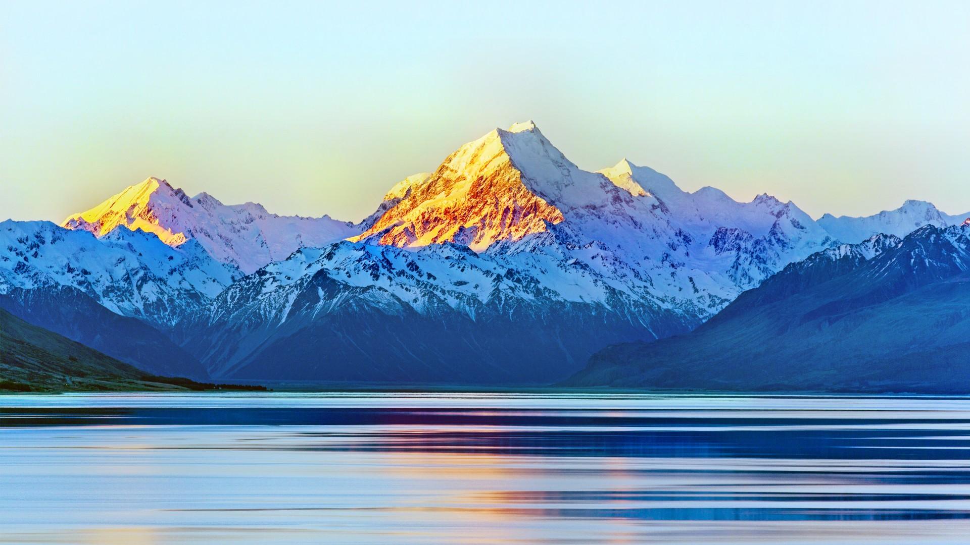 3d Scenery Wallpaper For Desktop Aoraki Mount Cook New Zealand 5k Wallpapers Hd