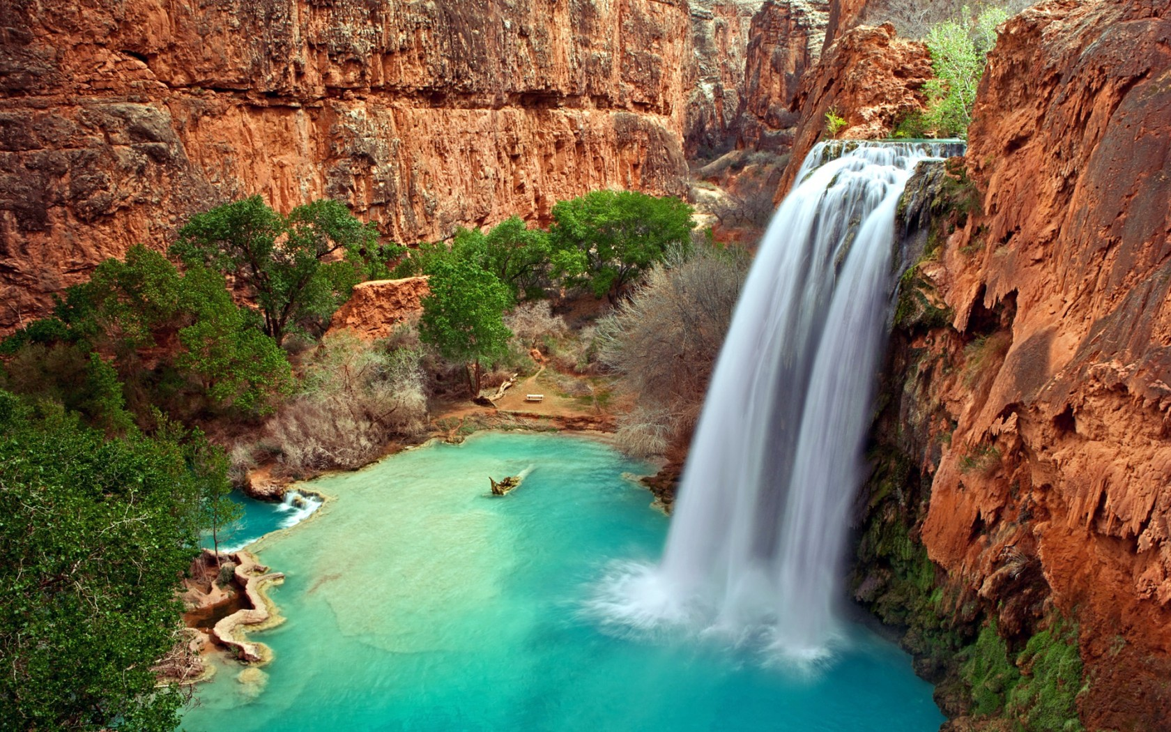 Havasu Falls Wallpaper Arizona Waterfalls Wallpapers Hd Wallpapers Id 10506