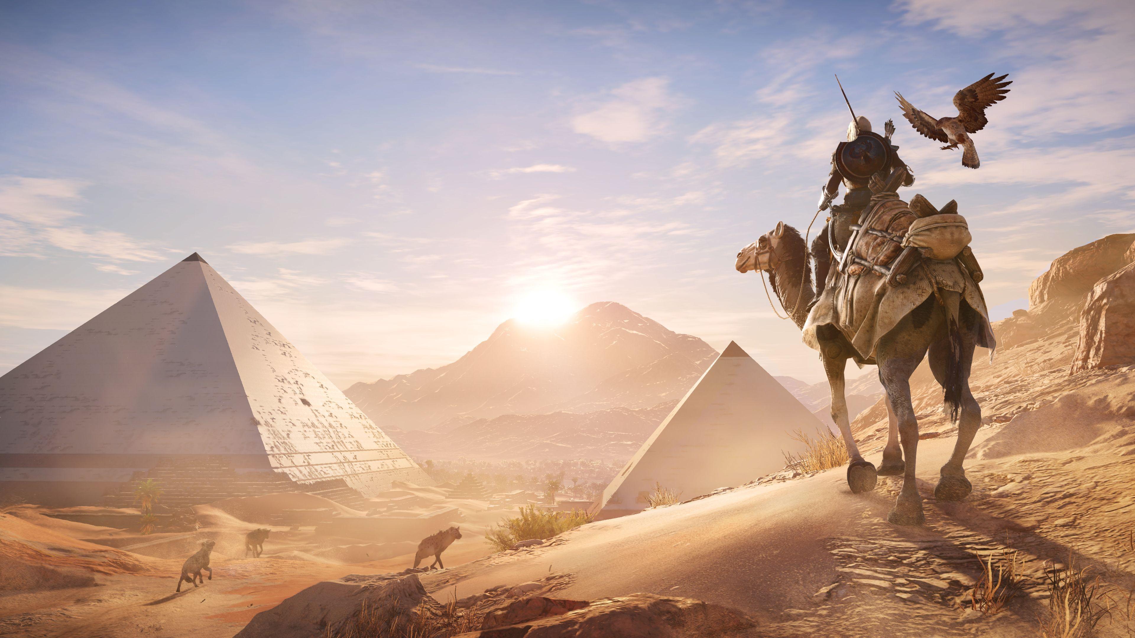 3d Wallpaper Mario Assassins Creed Origins Egypt 4k Wallpapers Hd