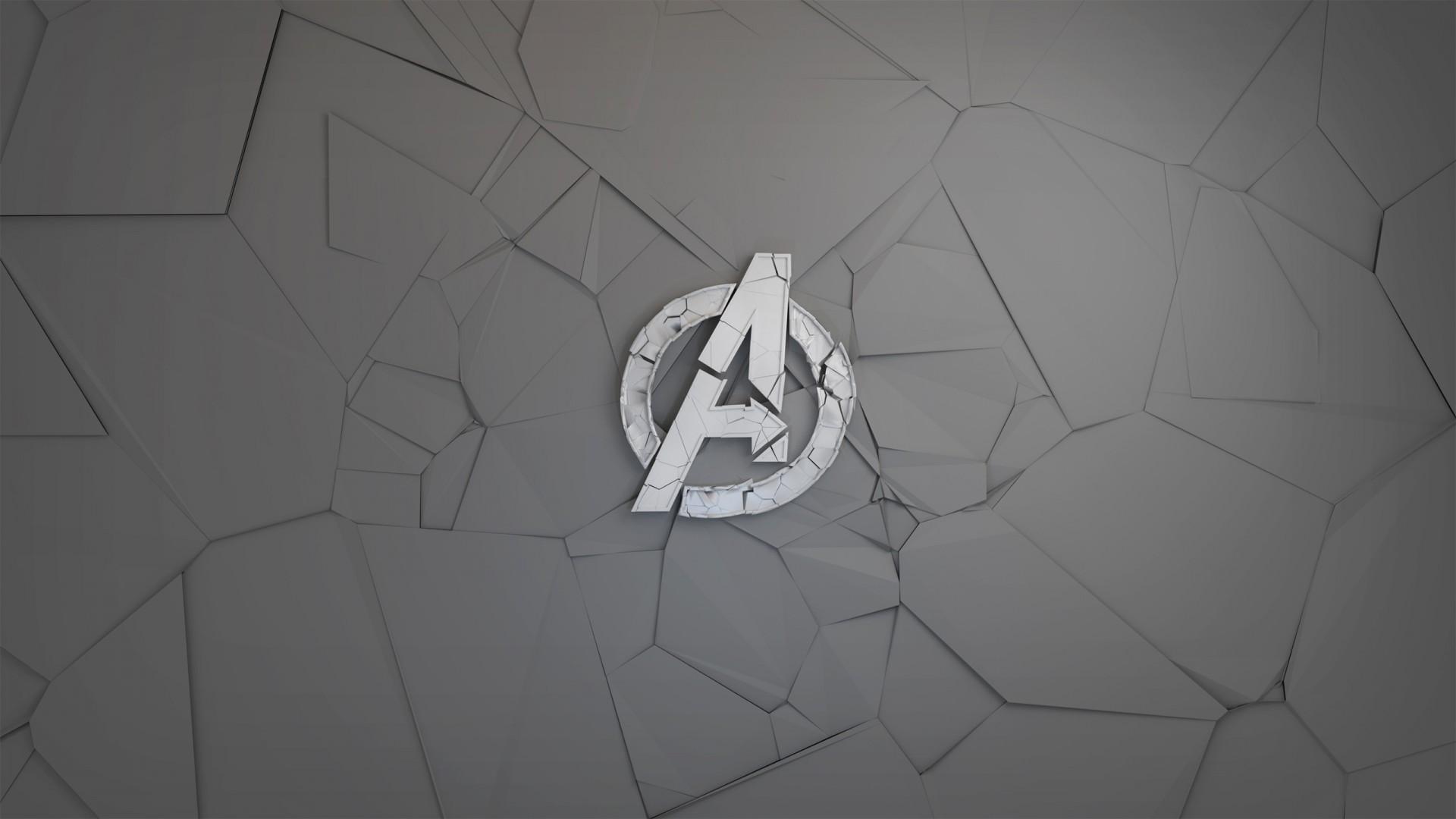 3d Photo Cube Wallpaper Avengers Minimal Logo Wallpapers Hd Wallpapers Id 23656