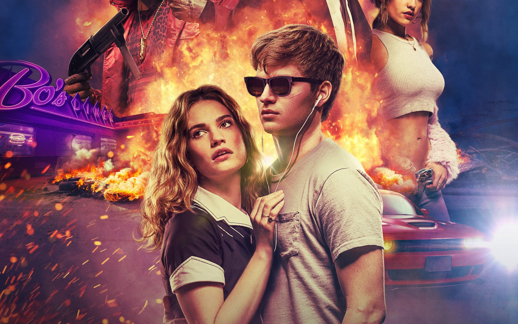 Beach Girl Wallpaper Hd Baby Driver 2017 Wallpapers Hd Wallpapers Id 21793