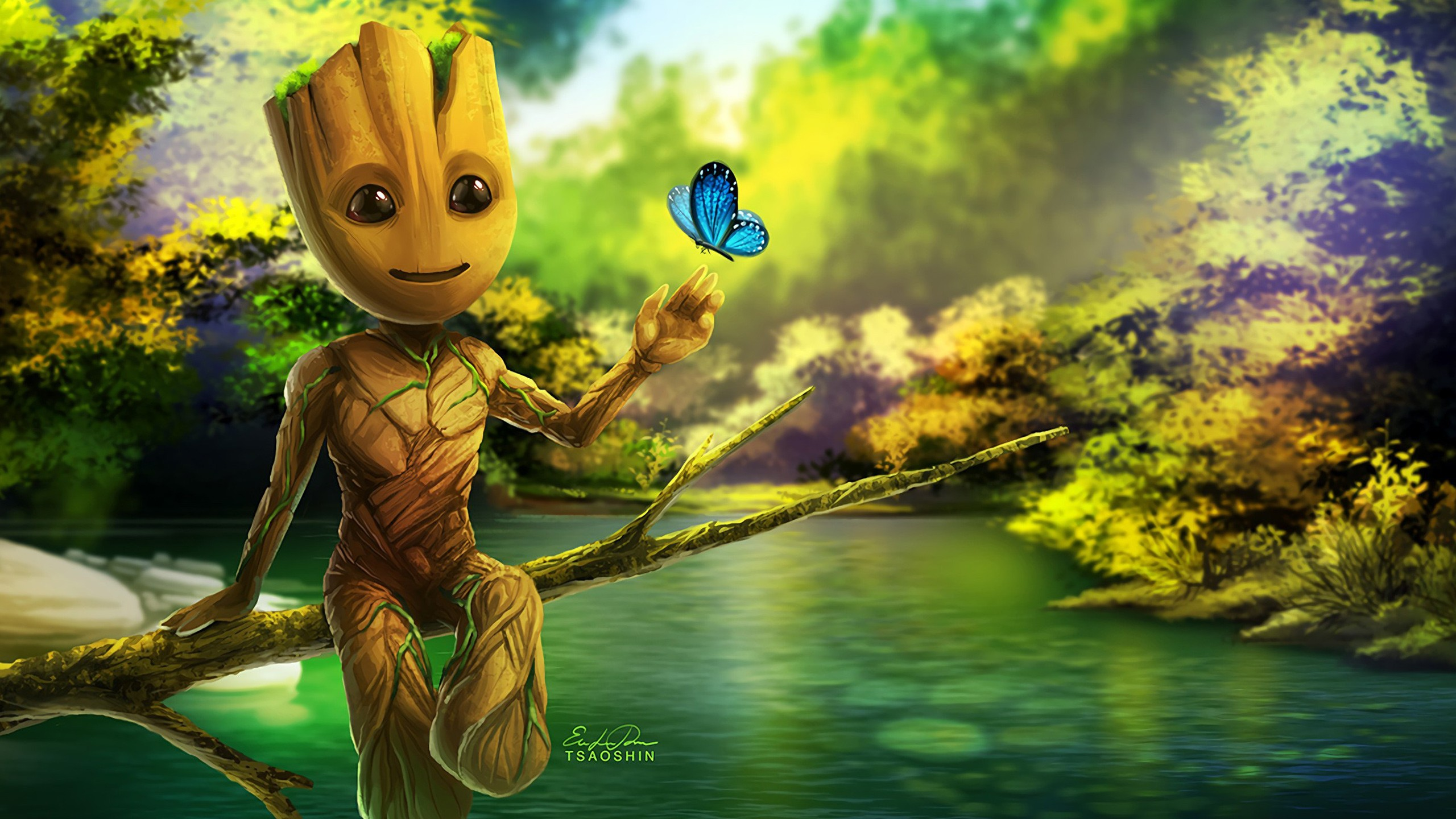 Cute Baby Ultra Hd Wallpapers Baby Groot Artwork Wallpapers Hd Wallpapers Id 20250
