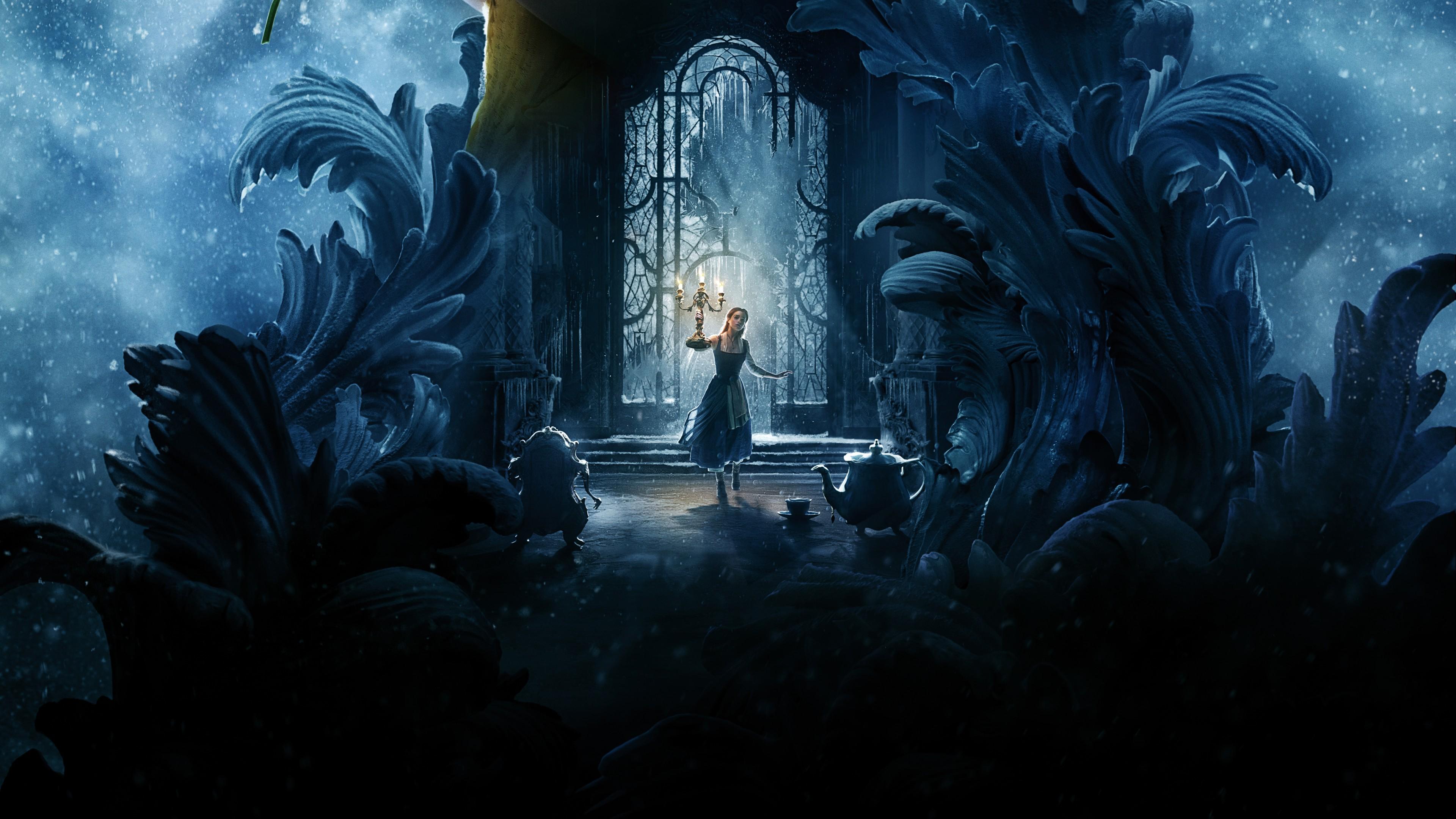 3d Fantasy Desktop Wallpapers Beauty And The Beast Emma Watson 4k 8k Wallpapers Hd