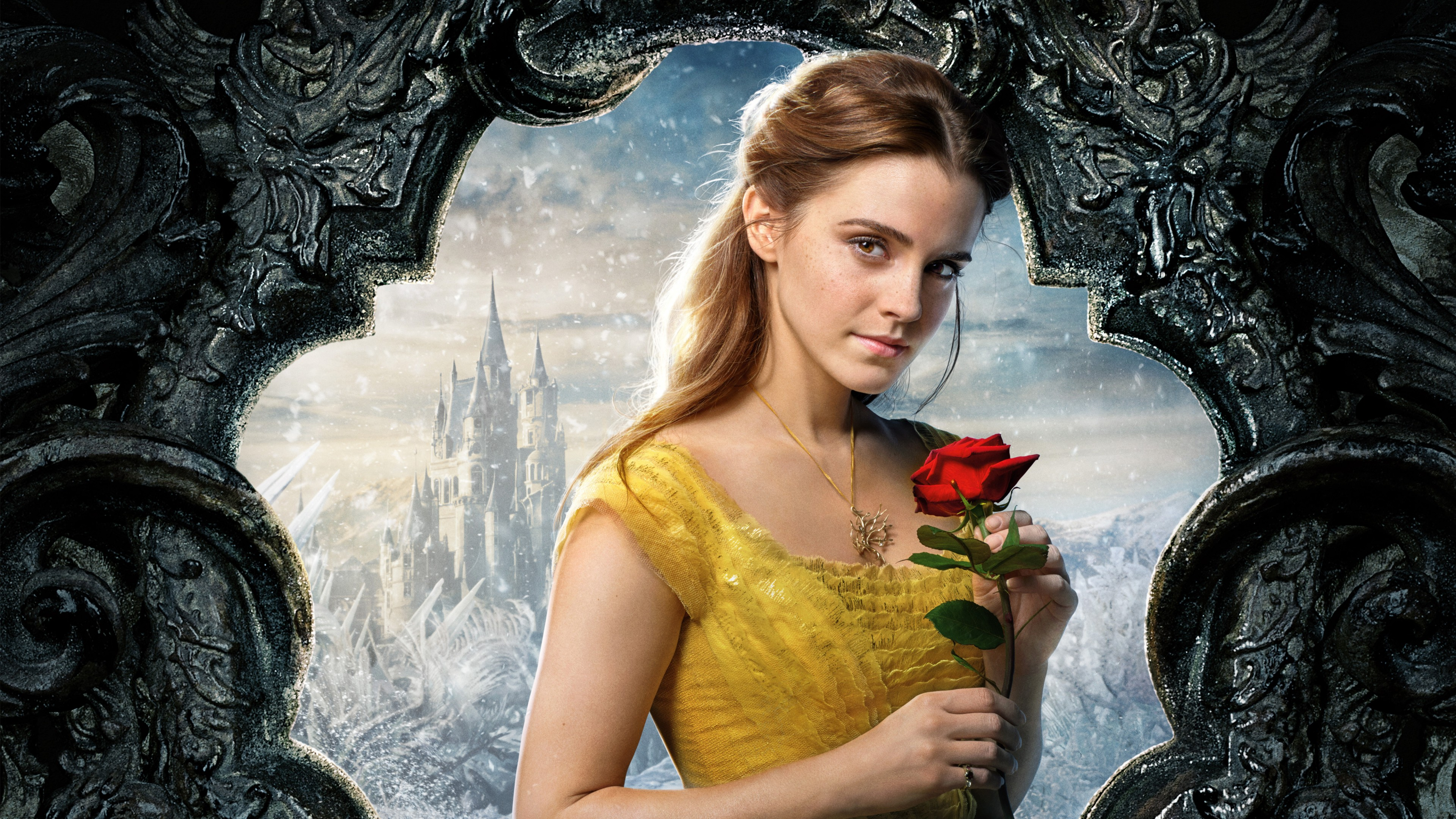 Lilly Iphone Wallpaper Belle Beauty And The Beast Emma Watson 5k Wallpapers Hd