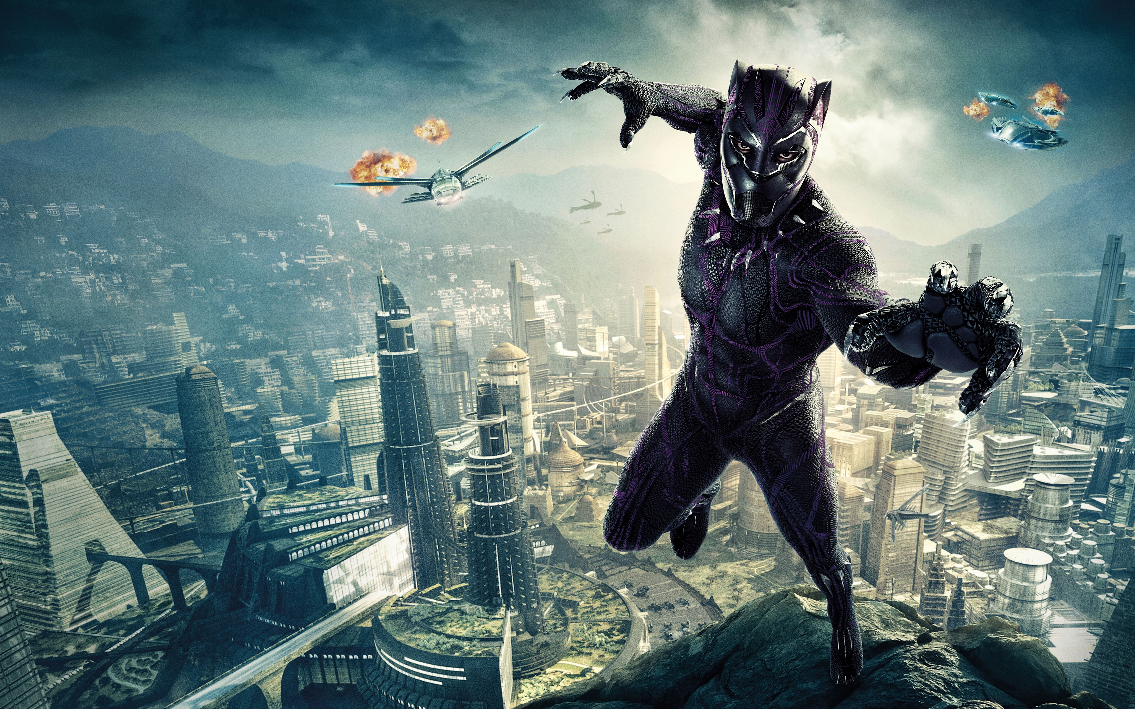 Black Wallpaper For Iphone 7 Black Panther 4k 8k Wallpapers Hd Wallpapers Id 22918
