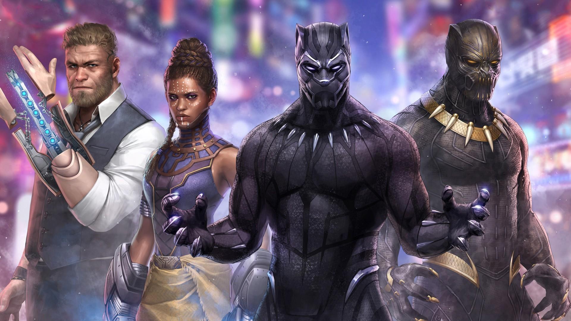 Hulk 3d Wallpaper Download Black Panther Marvel Future Fight Artwork Wallpapers Hd