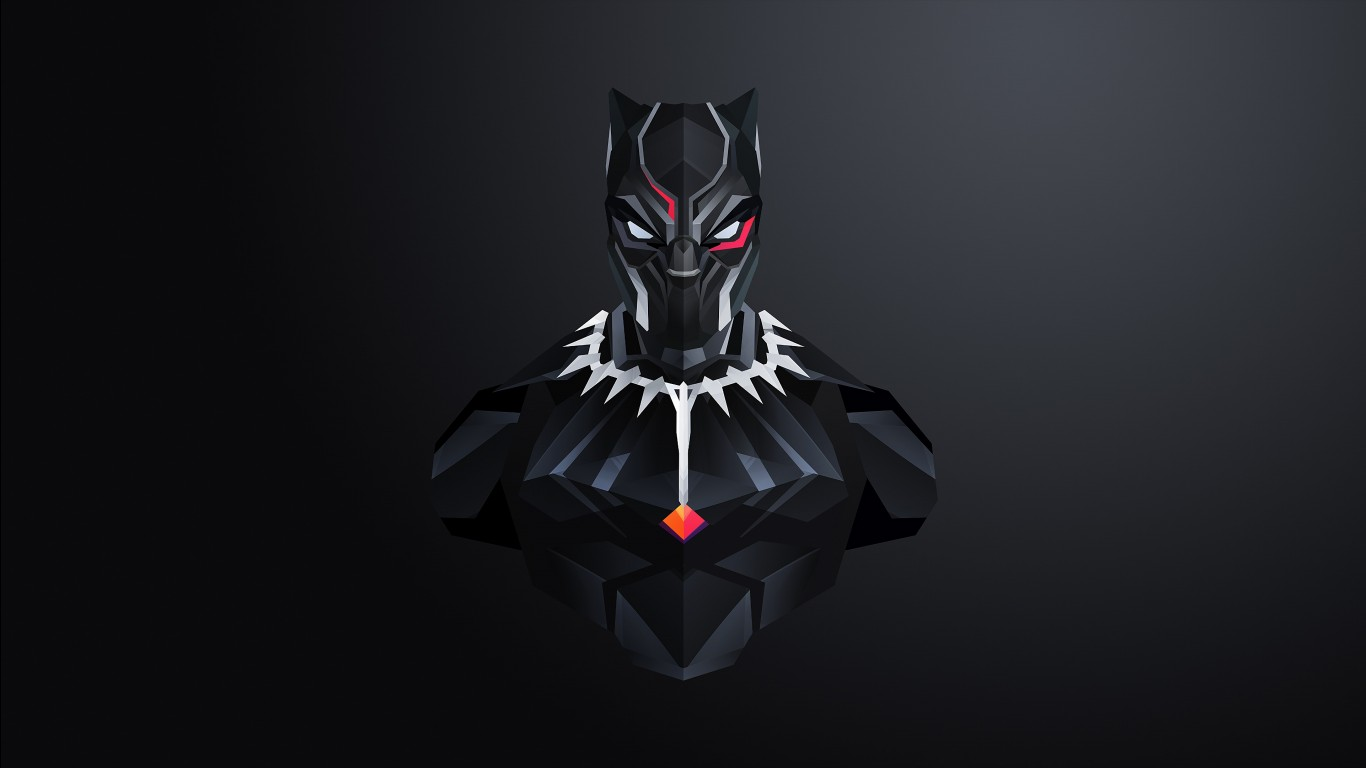 3d Panther Wallpapers Black Panther Minimal 4k Wallpapers Hd Wallpapers Id