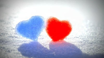 Blue Red Snow Hearts Wallpapers | HD Wallpapers | ID #14317