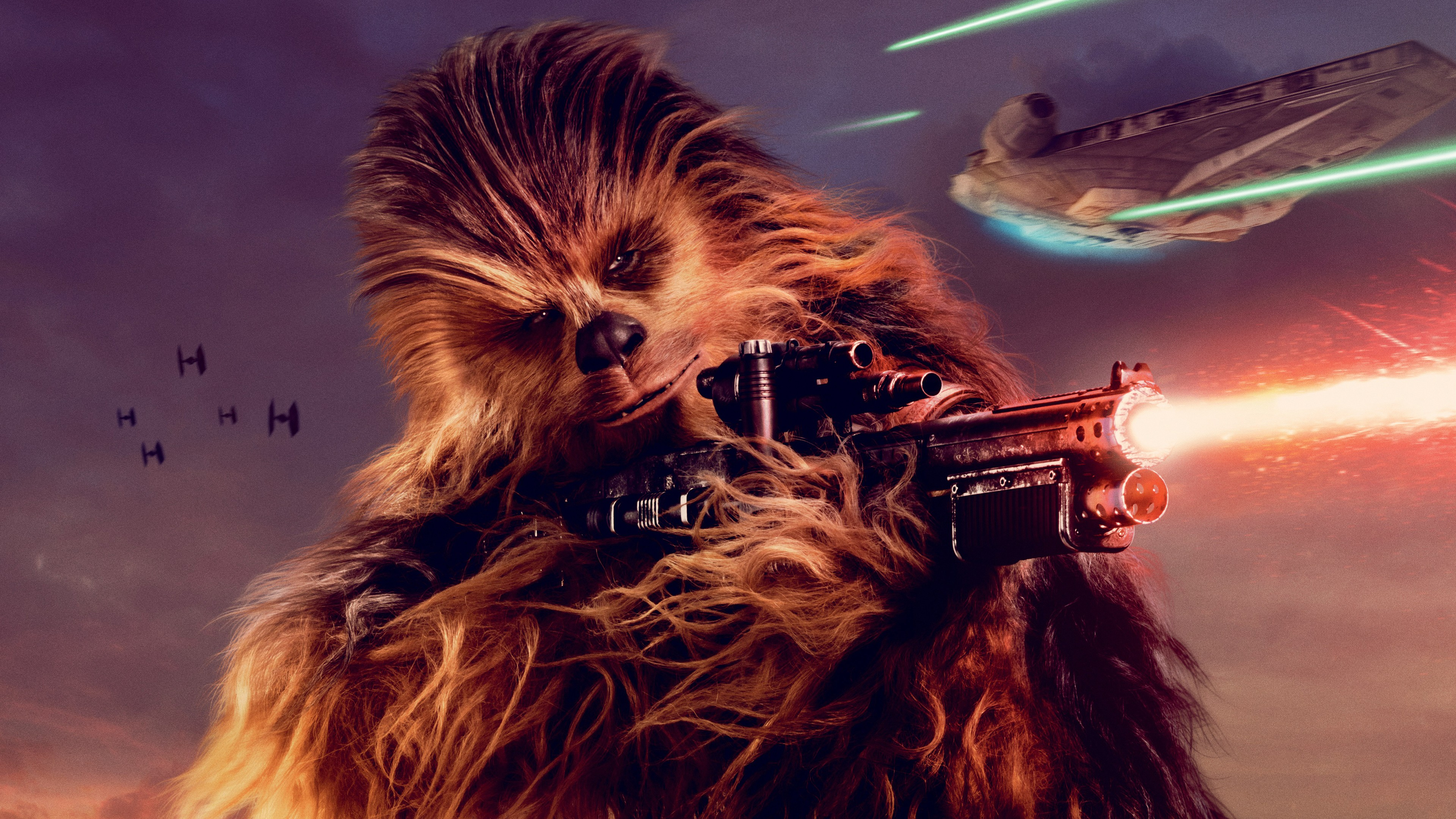 Vfx 3d Wallpaper Pro Chewbacca Solo A Star Wars Story 4k Wallpapers Hd