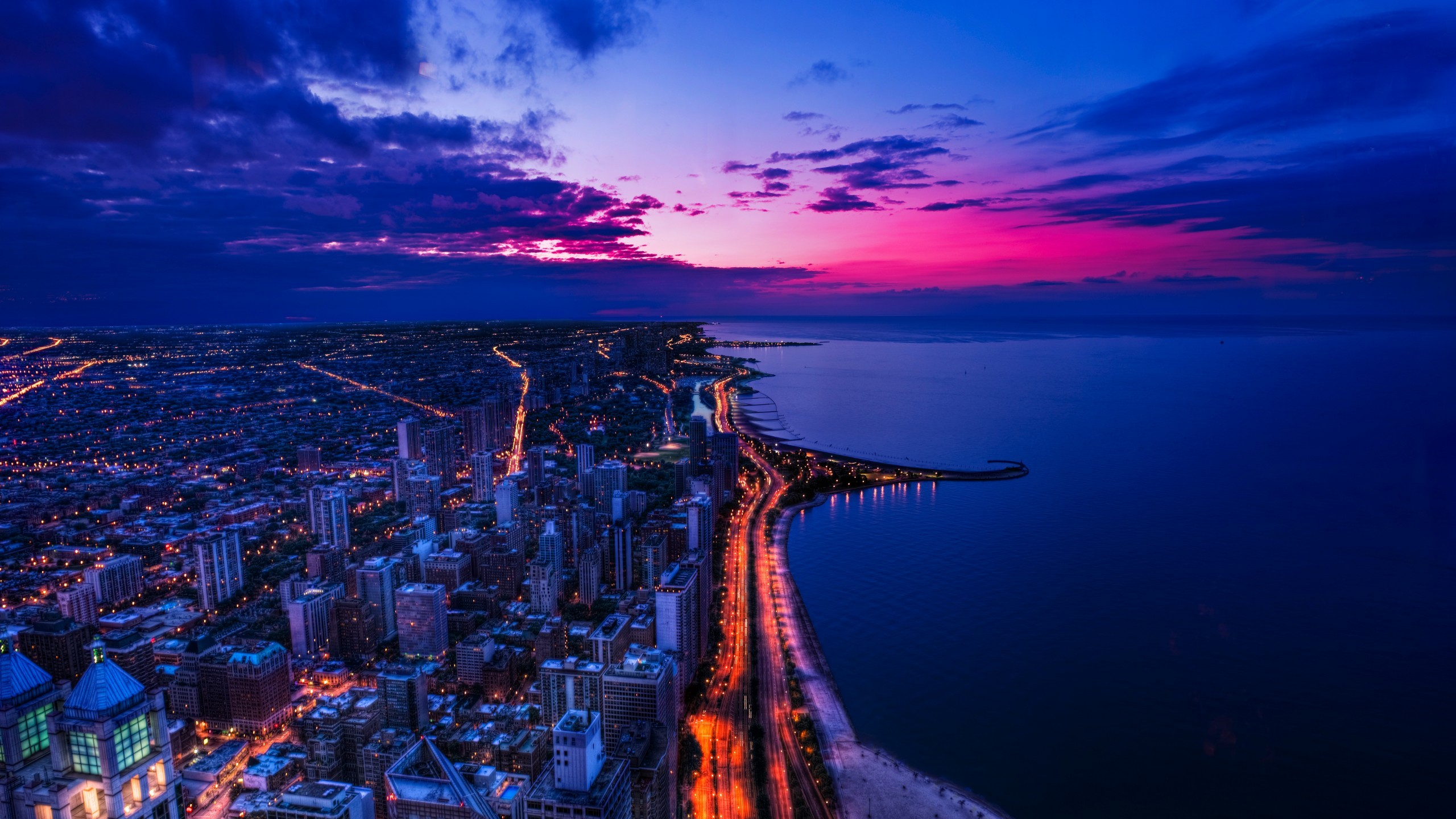 Chicago Iphone X Wallpaper Chicago Sunset Wallpapers Hd Wallpapers Id 13351