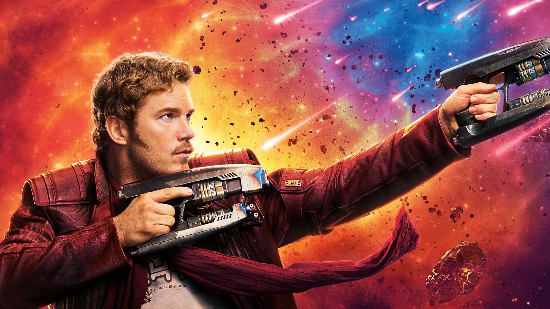 3d Galaxy Wallpaper Hd Chris Pratt Star Lord Guardians Of The Galaxy Vol 2 4k 8k