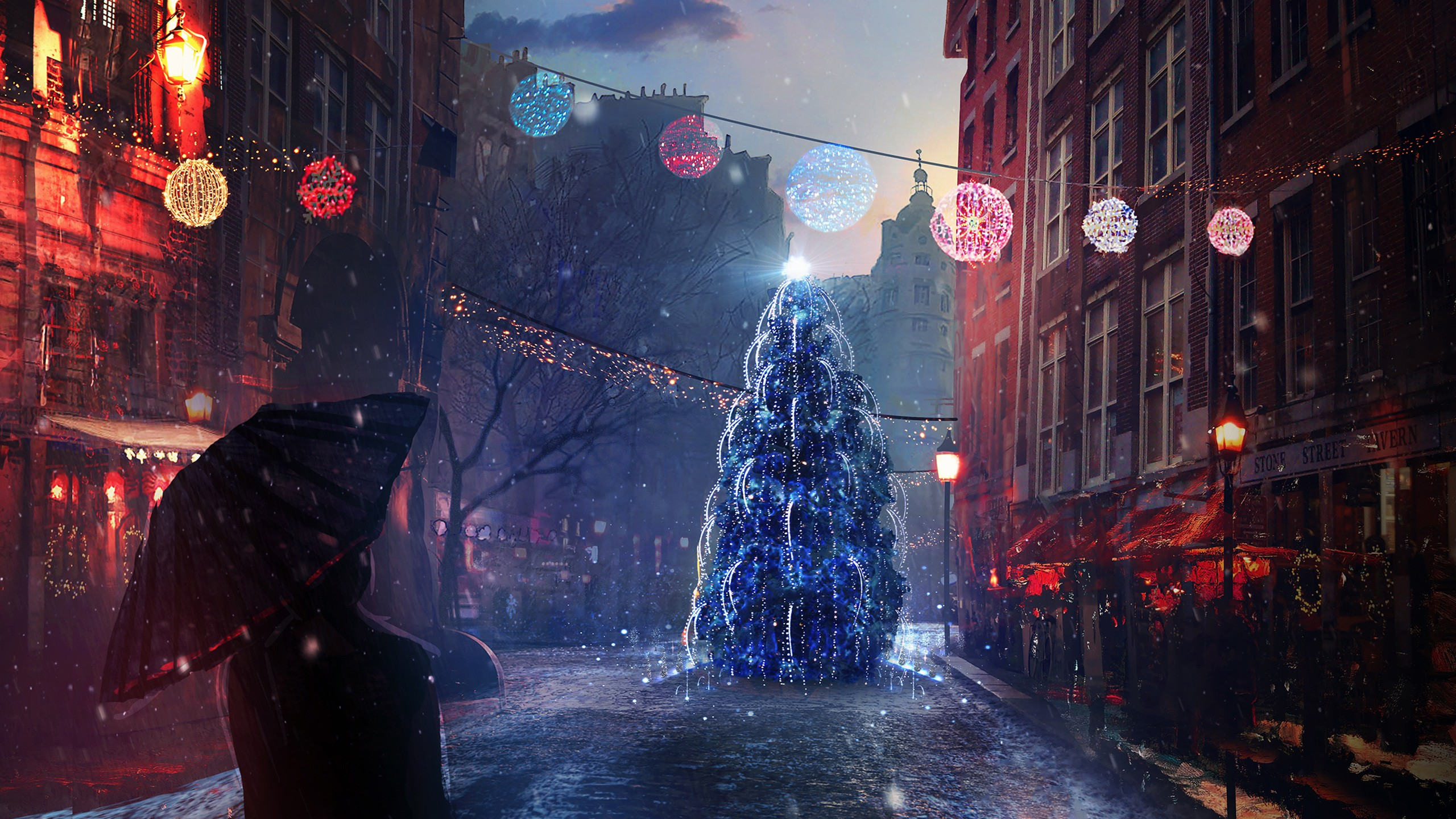 Iphone 5 Hd Wallpapers Cars Christmas Eve Lights Wallpapers Hd Wallpapers Id 19400