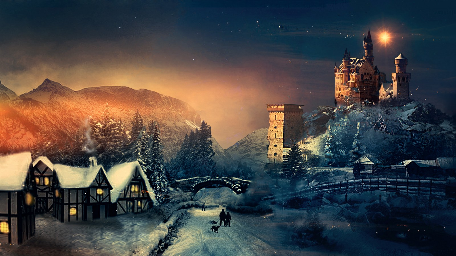 Merry Christmas 3d Wallpaper Hd Christmas Winter Wallpapers Hd Wallpapers Id 14153
