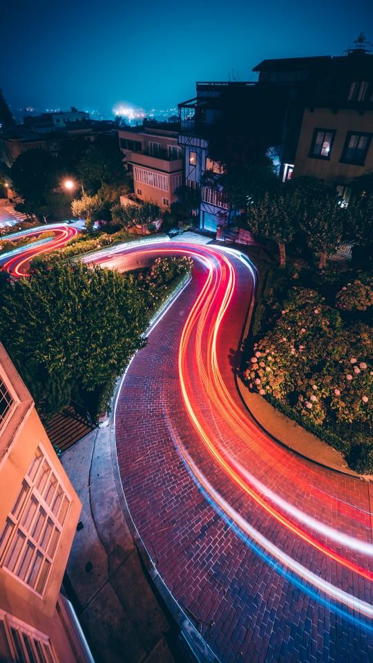 Iphone 5s Beach Wallpaper City Night Traffic Lights 4k Wallpapers Hd Wallpapers