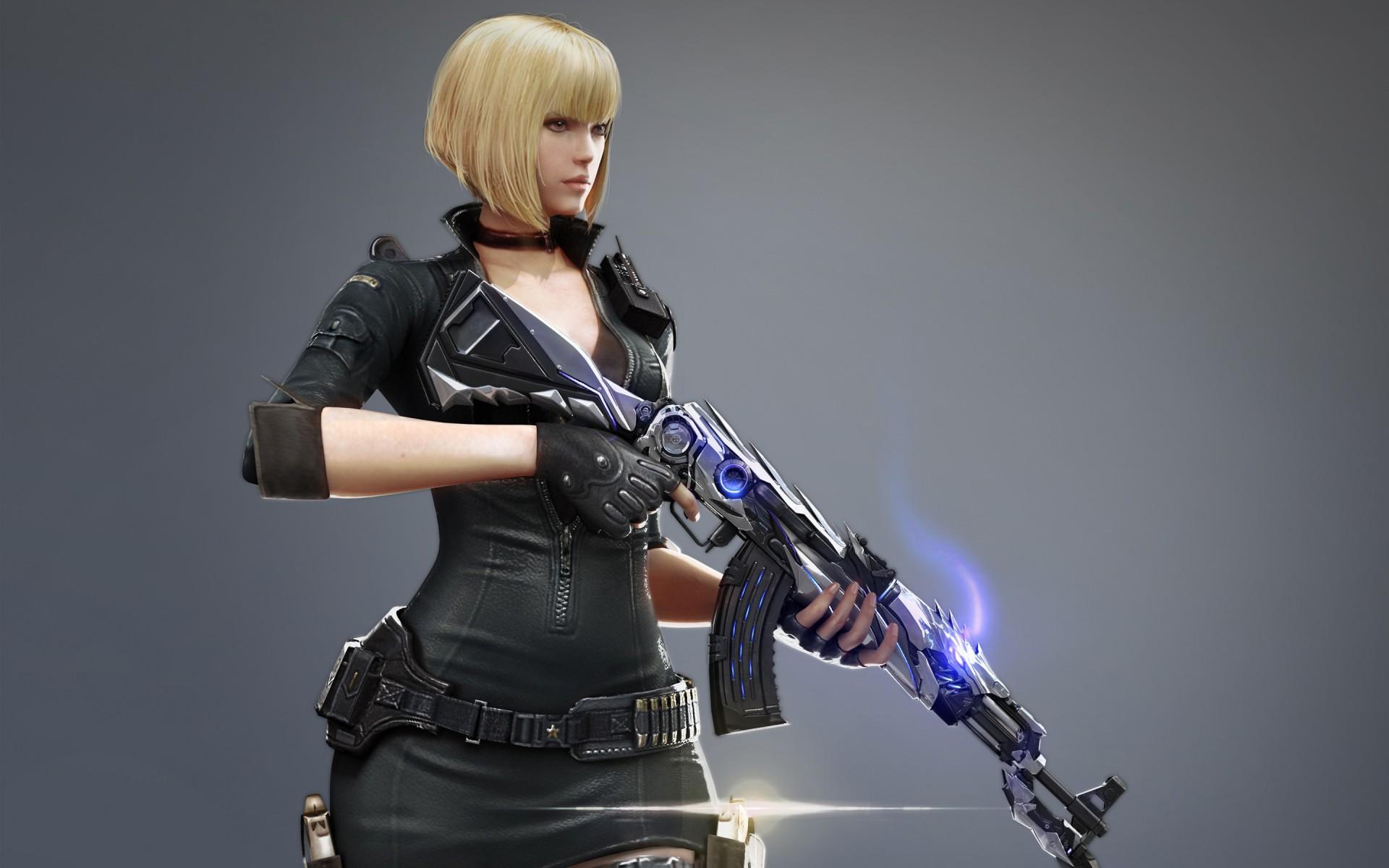 Girl Gun Desktop Wallpaper Cross Fire Jtf Ak 47 Knife Iron Beast Wallpapers Hd