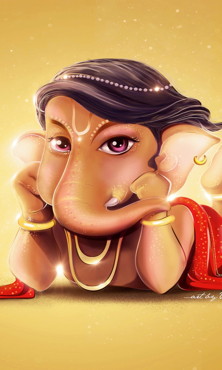 Cute Wallpapers For Iphone 5s Cute Lord Ganesha Hd 4k Wallpapers Hd Wallpapers Id 20942