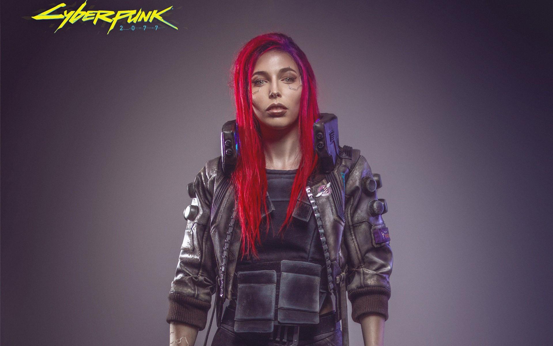 Cyber Girl Wallpaper Cyberpunk 2077 Female Cosplay Wallpapers Hd Wallpapers