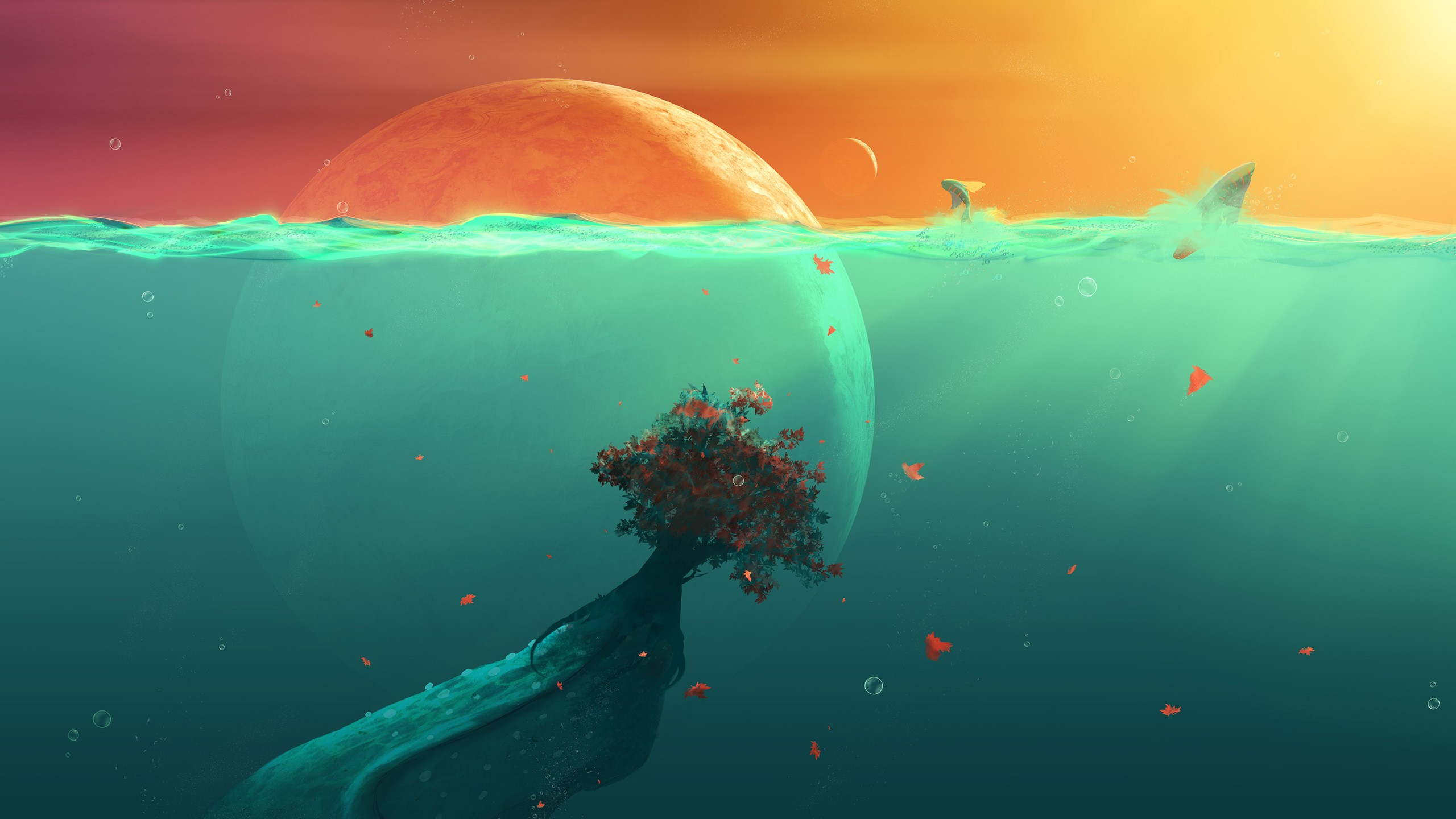 Cute 3d Cartoon Wallpapers Deep Ocean Planet Fish Wallpapers Hd Wallpapers Id 14906