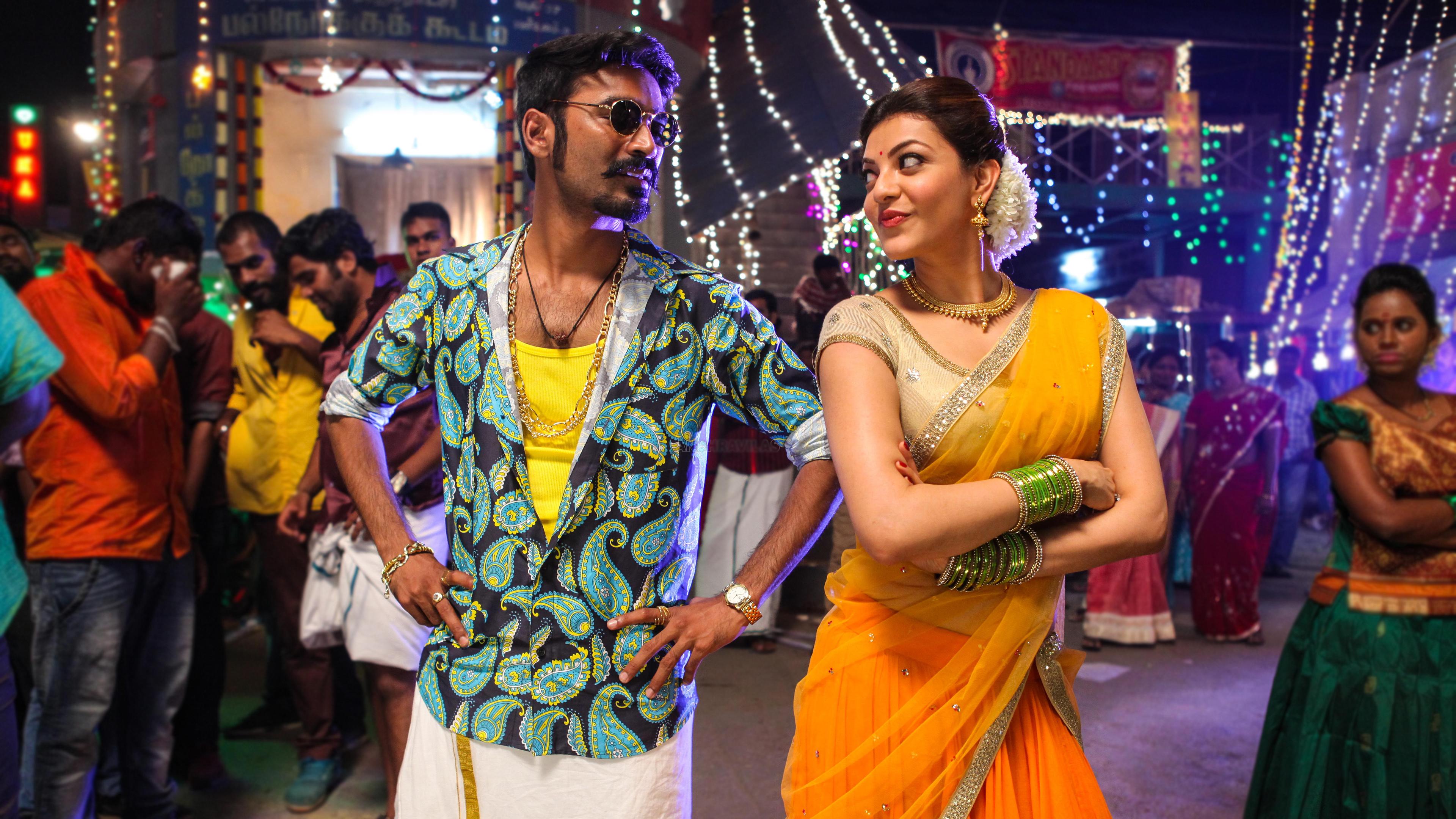 Vijay 3d Hd Wallpapers Dhanush Kajal Maari Tamil Movie Wallpapers Hd Wallpapers