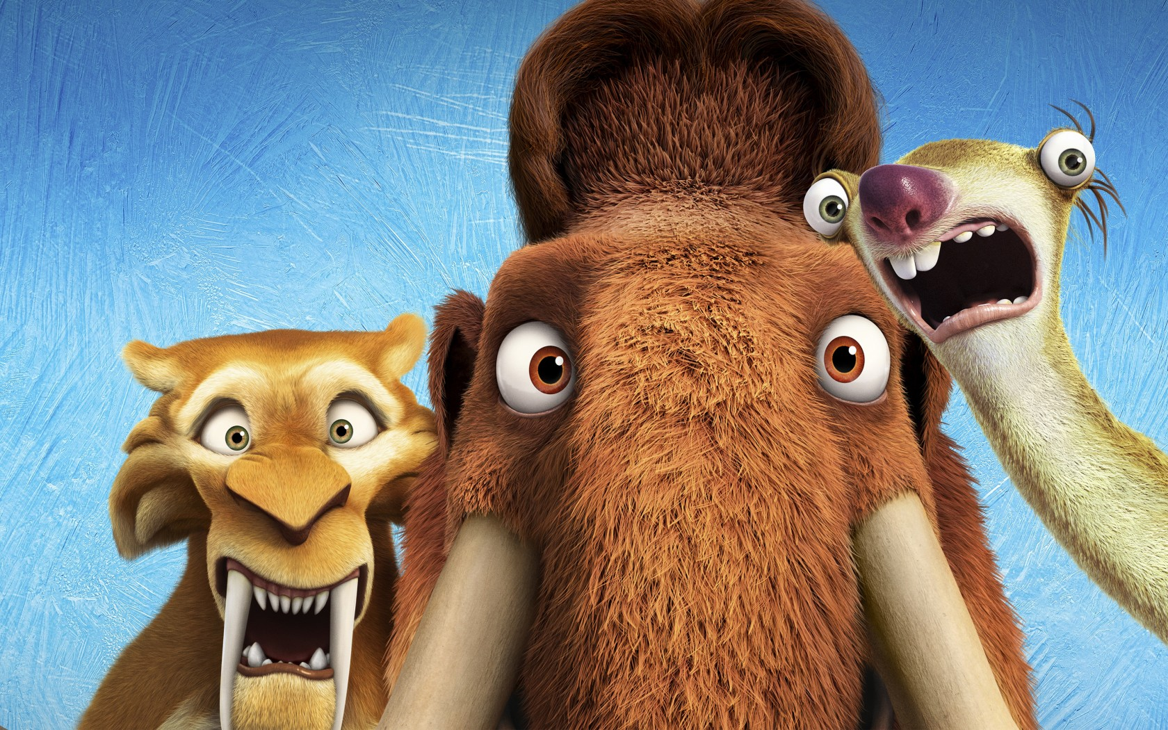 3d Wallpaper Of Deer Diego Manny Scrat Ice Age Collision Course Wallpapers Hd