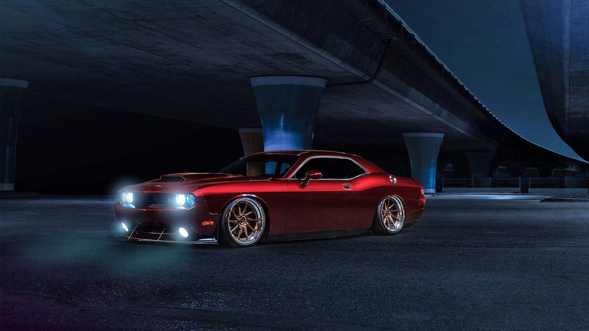 Wallpaper American Muscle Car Dodge Challenger Avant Garde Wheels Wallpapers Hd