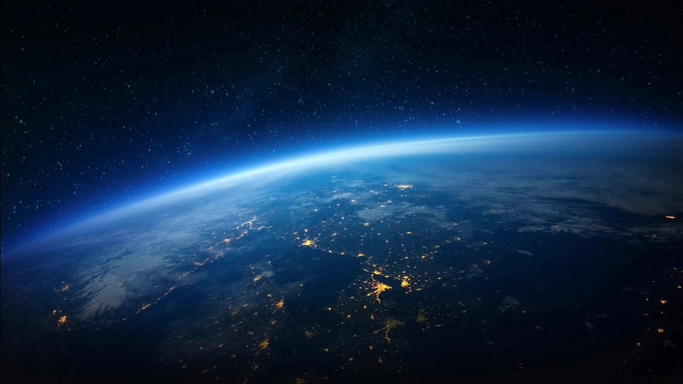 Iphone 5 Space Wallpaper Hd Earth Horizon Wallpapers Hd Wallpapers Id 20033