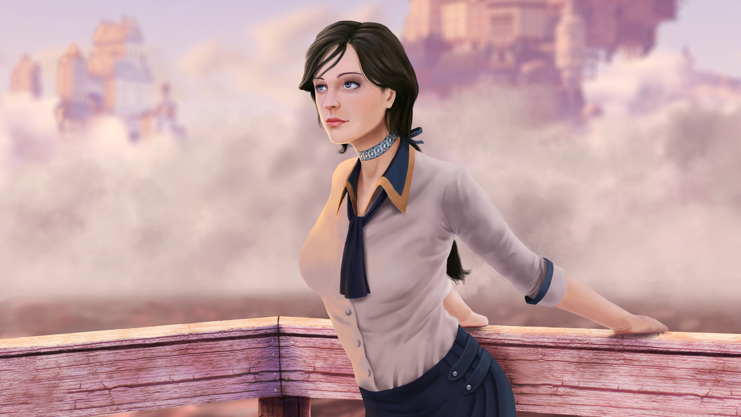 Girl 3 Monitor Wallpaper Elizabeth Bioshock Infinite Wallpapers Hd Wallpapers