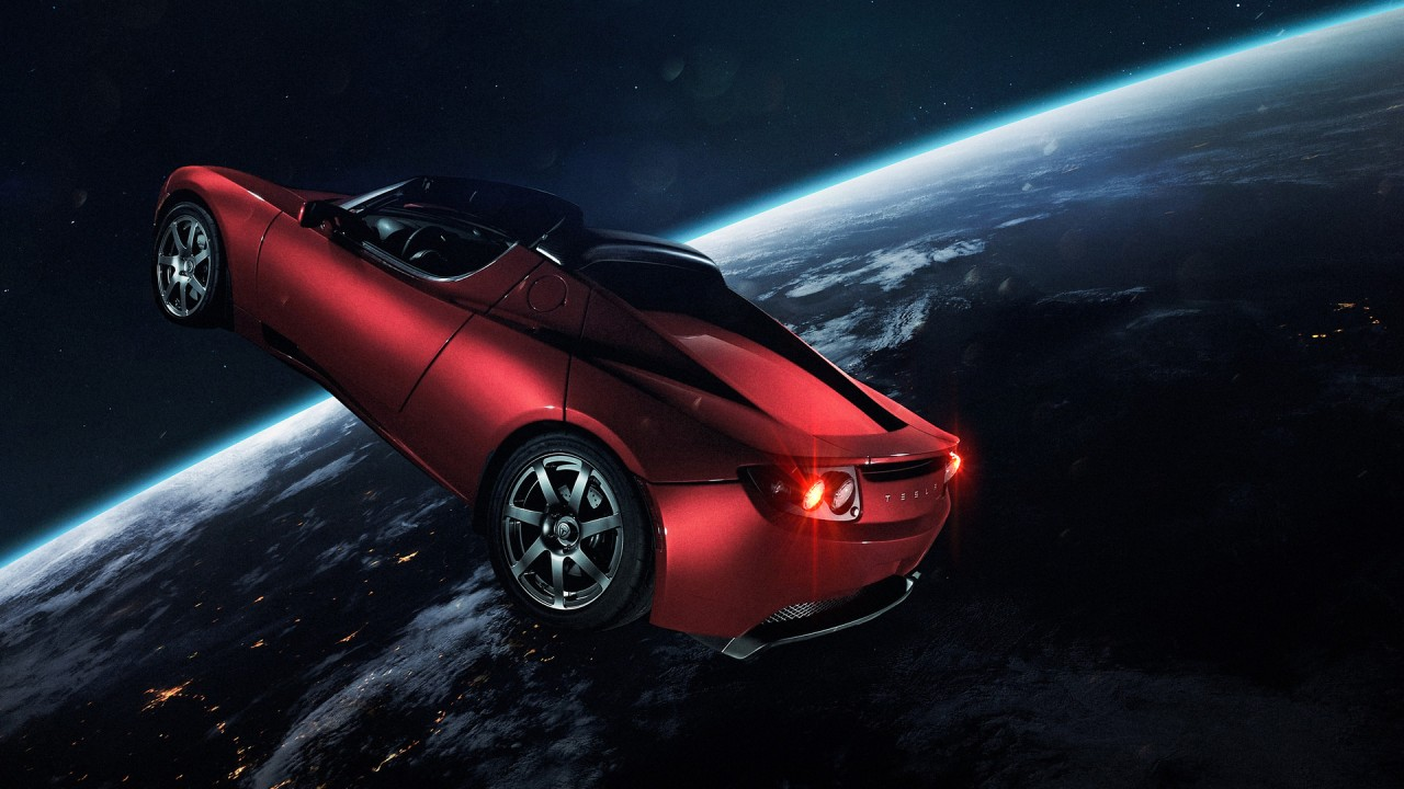 Windows 10 Wallpaper Hd 1920x1080 Cars Elon Musk Tesla Roadster In Space Wallpapers Hd