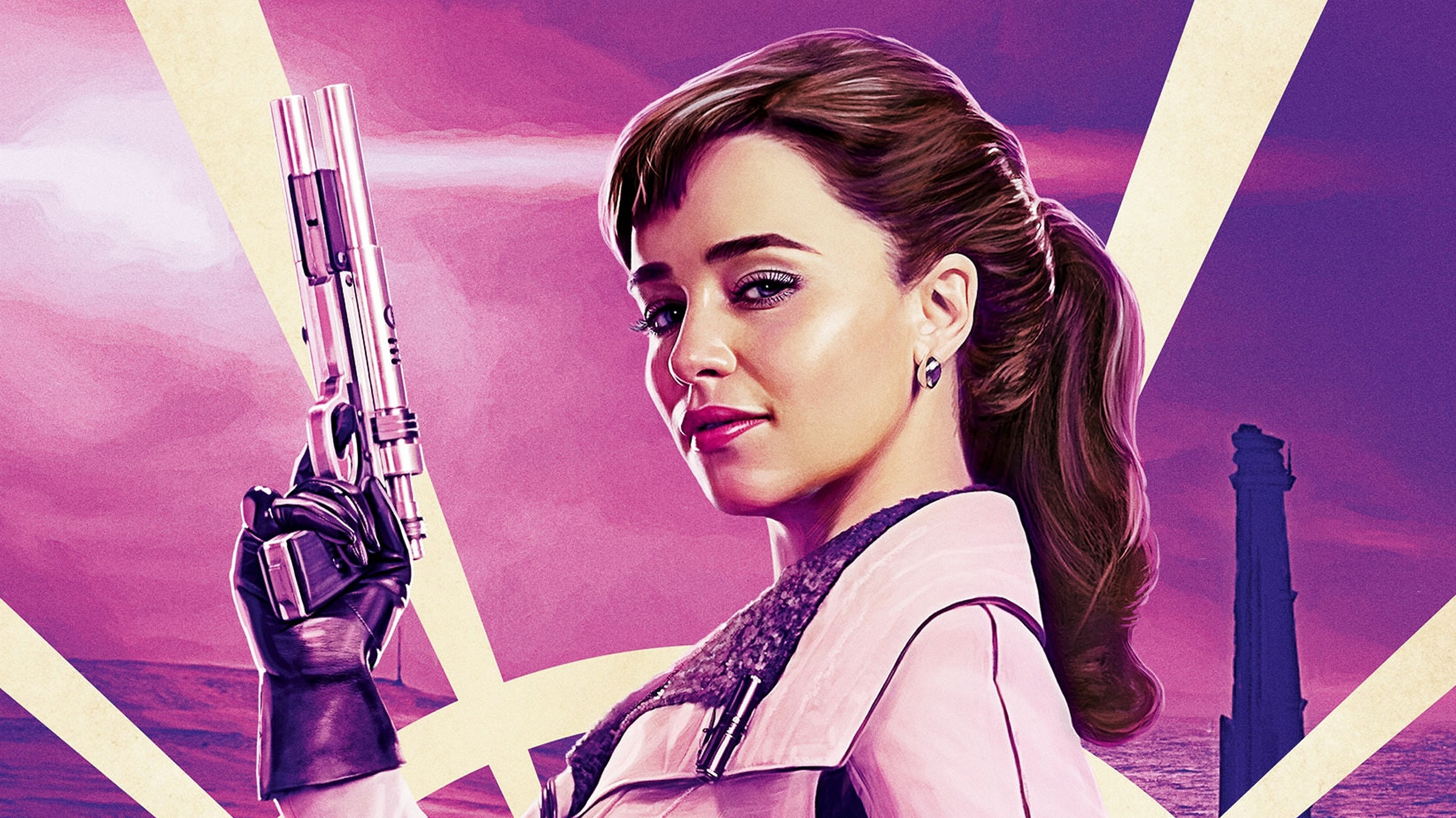 Superman 3d Wallpaper For Android Emilia Clarke As Qi Ra In Solo A Star Wars Story
