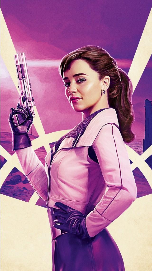 Iphone 6s Plus Wallpaper Hd Emilia Clarke As Qi Ra In Solo A Star Wars Story