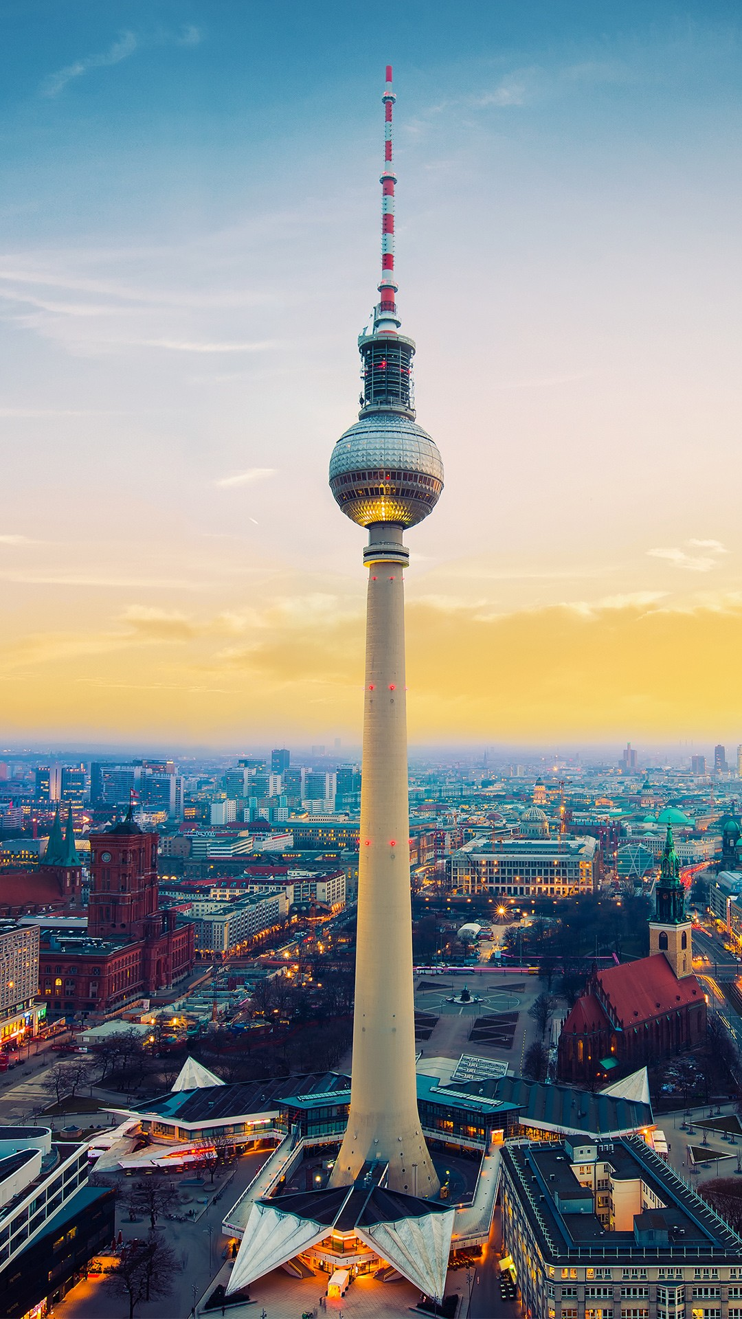 Ultra Hd Wallpapers Iphone X Fernsehturm Berlin Tv Tower Germany Wallpapers Hd