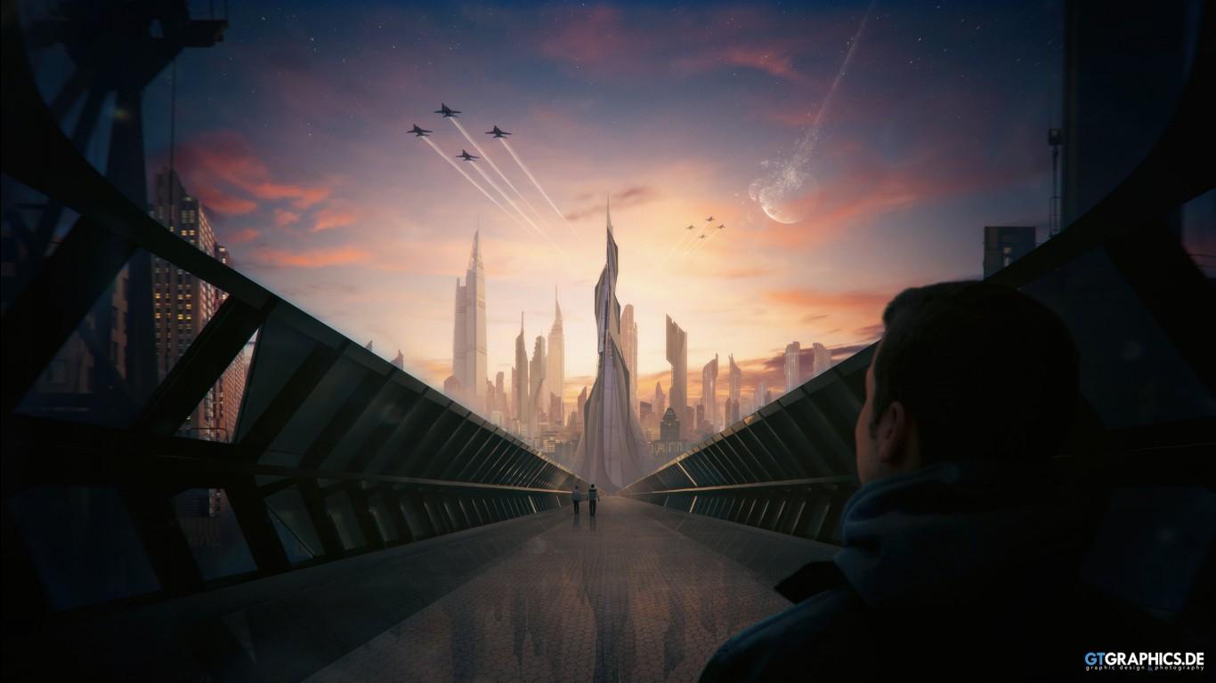 Mortal Kombat X Wallpapers Hd Iphone Futuristic City Concept Wallpapers Hd Wallpapers Id 19458