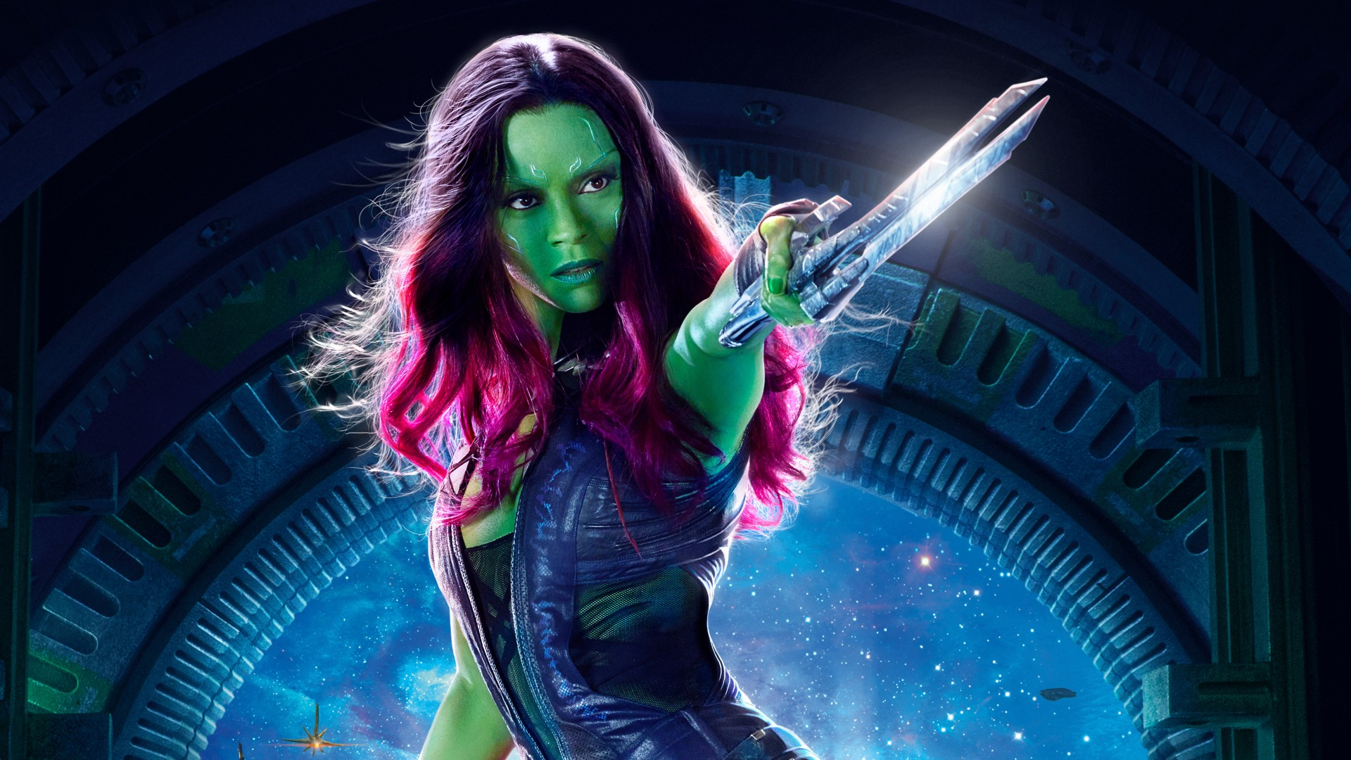 3d Galaxy Wallpaper Widescreen Gamora Guardians Of The Galaxy Vol 2 4k Hd Wallpapers Hd