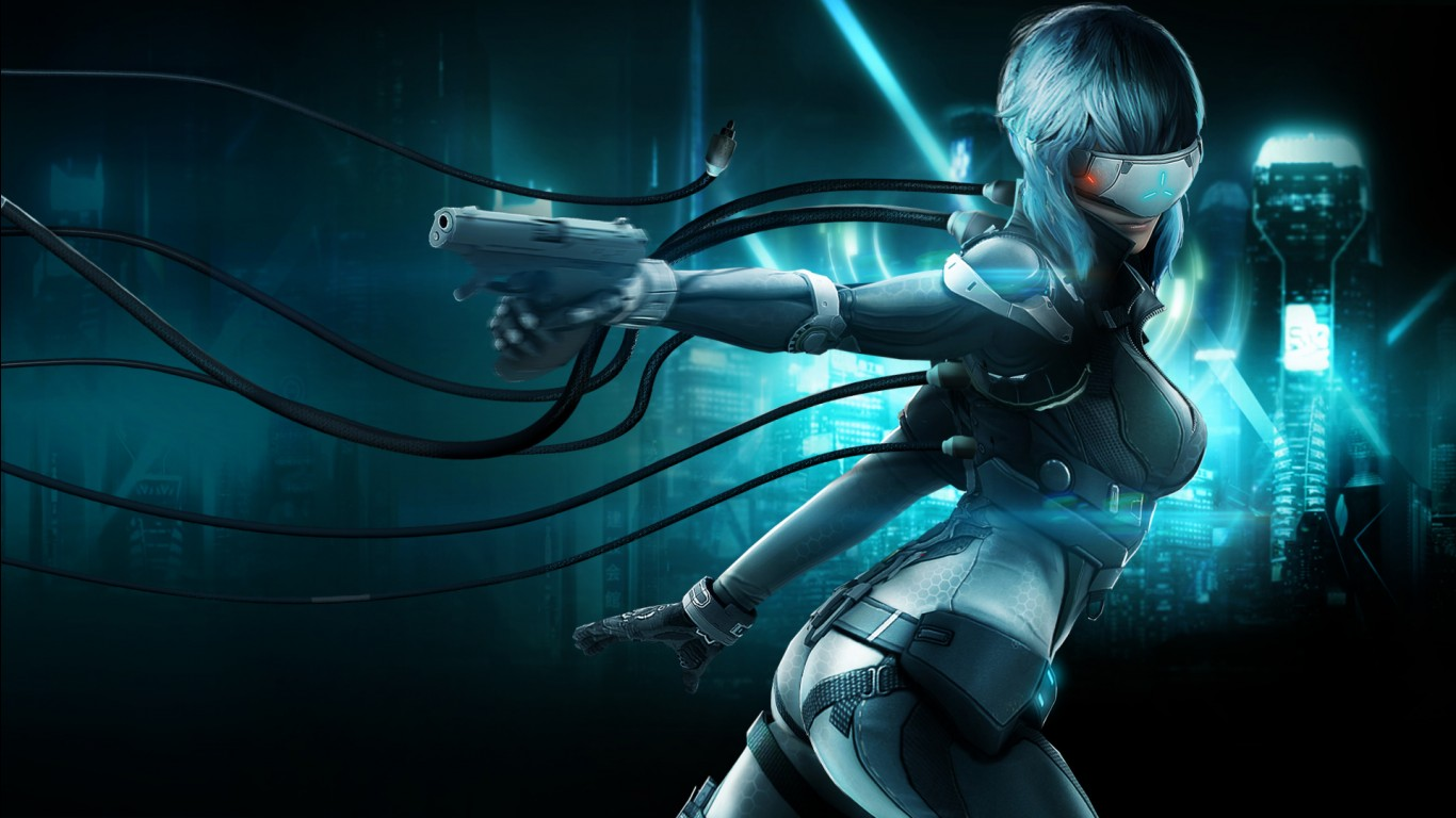 Cute Anime Alone Wallpaper Ghost In The Shell Stand Alone Complex First Assault