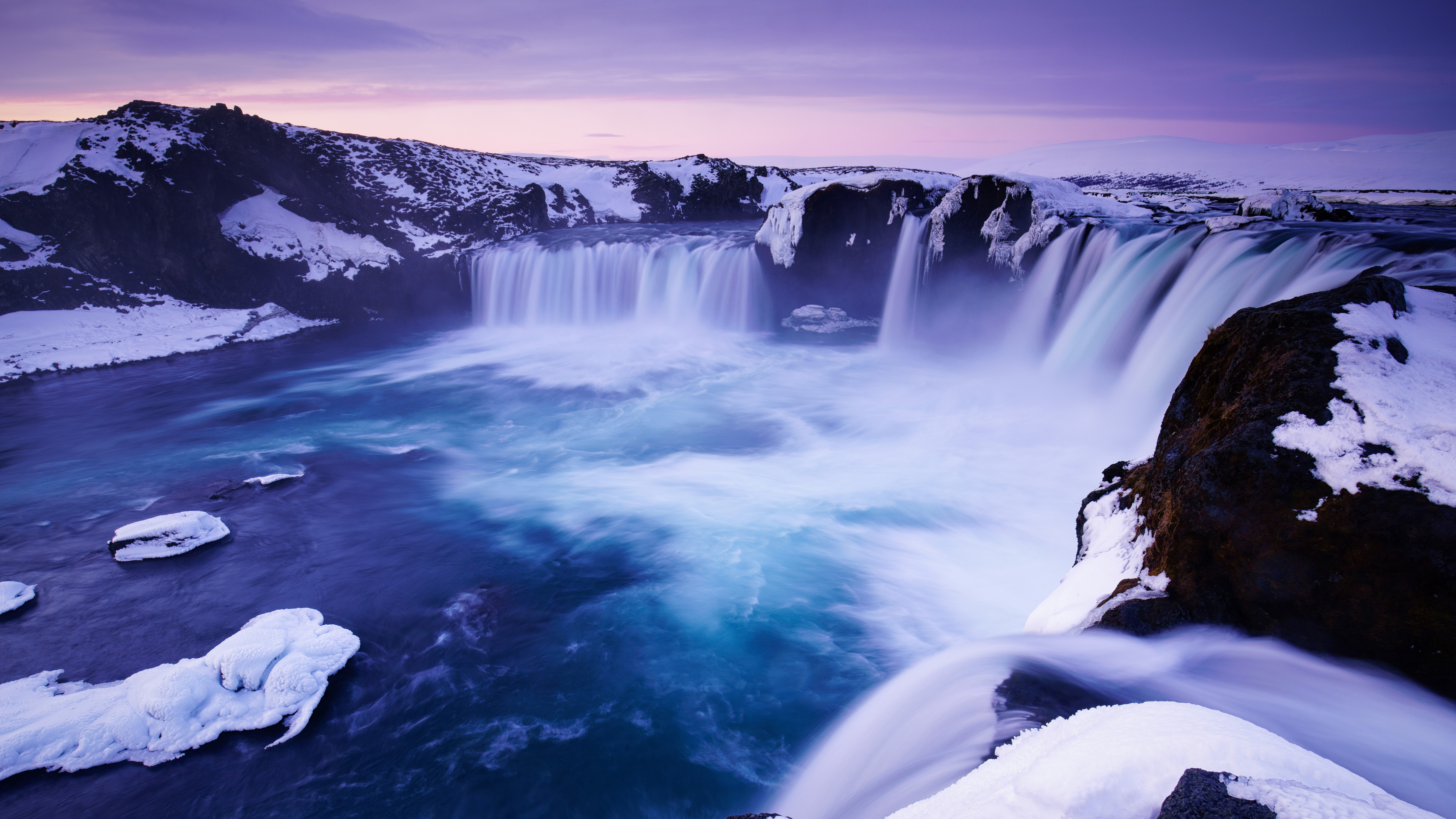 Cute Wallpapers For Iphone 7 Plus Godafoss Waterfall Iceland 4k 8k Wallpapers Hd
