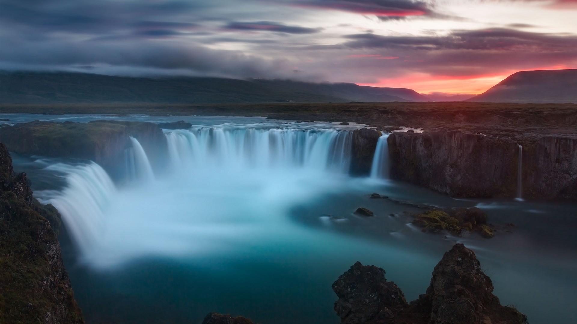 3d Wallpaper Widescreen Waterfalls Godafoss Waterfalls Iceland Wallpapers Hd Wallpapers