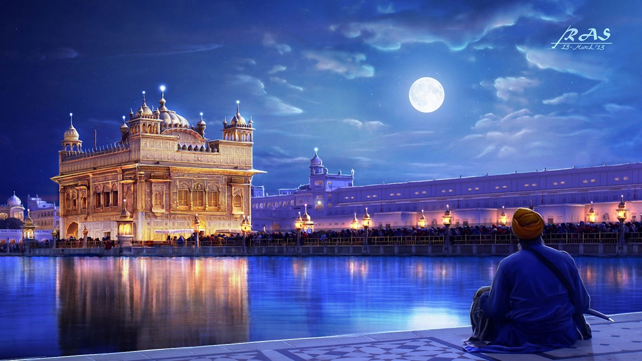 3d Wallpaper Iphone X Golden Temple Amritsar Punjab India Wallpapers Hd